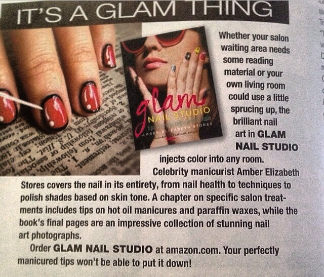 It's a Glam Thing, You See.    Last season, I had the fortune to work on this completely fun book of nail art by celebrity manicurist, Amber Stores. For  Glam Nail Studio  (produced by my pal Catbird Productions/Kirsten Hall and published by Race Point Publishing) I wasn't the designer, but the one who photographed the step-by-step images throughout the book.  GNS  was recently featured in  Nail Pro Magazine .