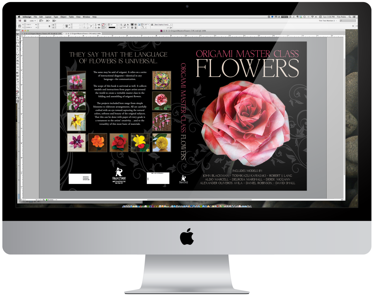 Watcha doin'?    A few tweaks to the  Origami Master Class: Flowers  cover. Look for the final cover this week!