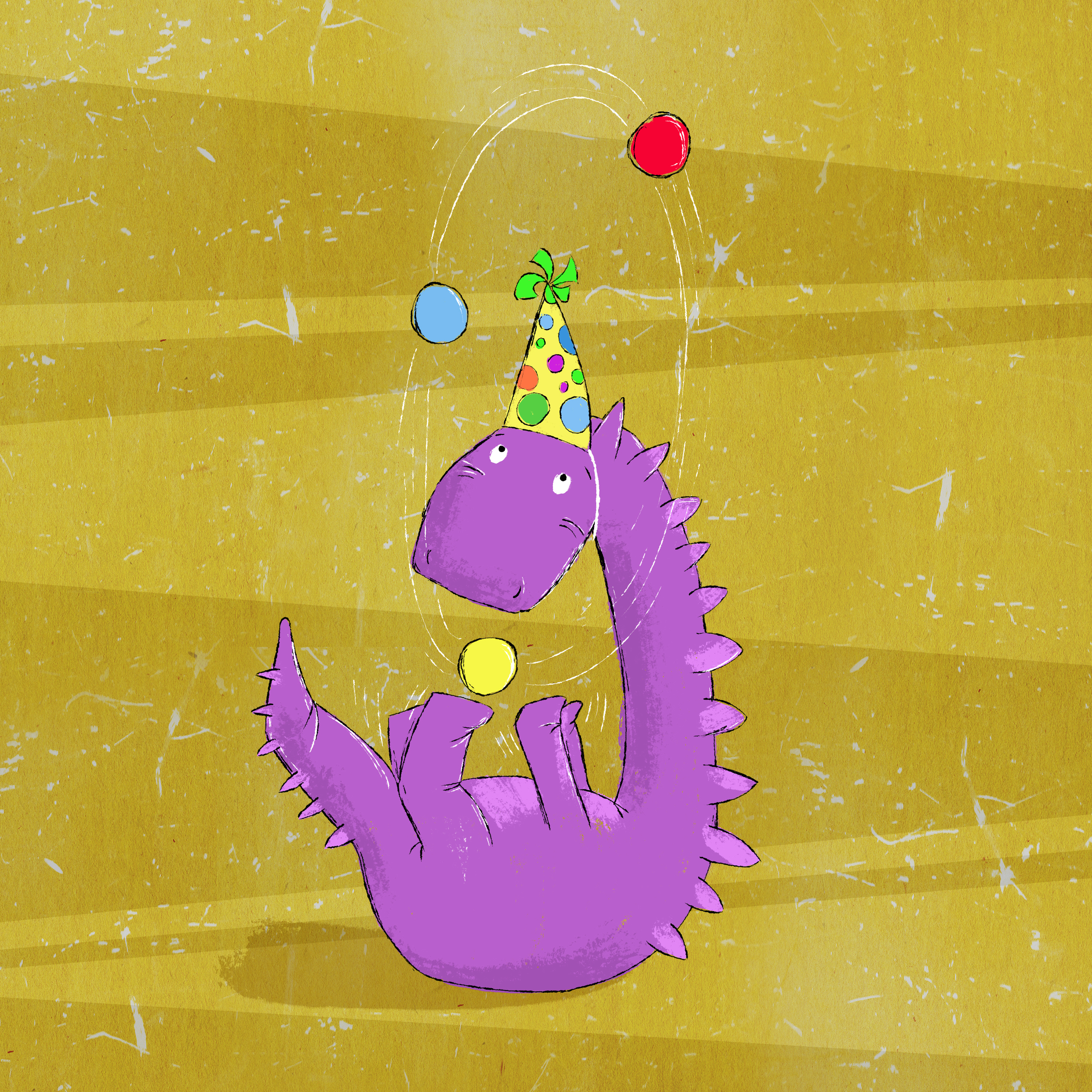 There's just nothing like a juggling dinoasur...even though he's a bit of a showoff.