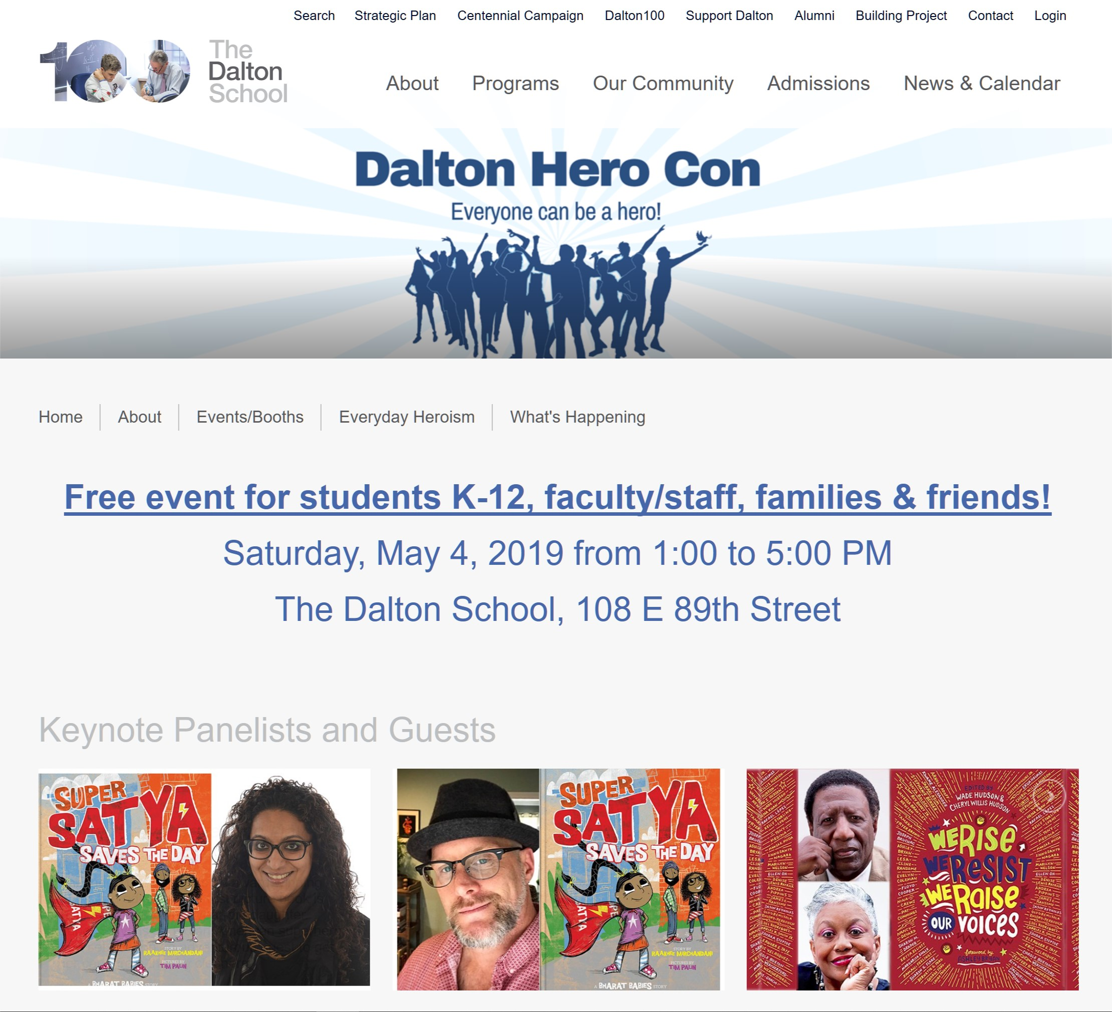 Dalton Hero ConNYC - 5/4/19Excited to be a panelist, draw and sign! More details to come!