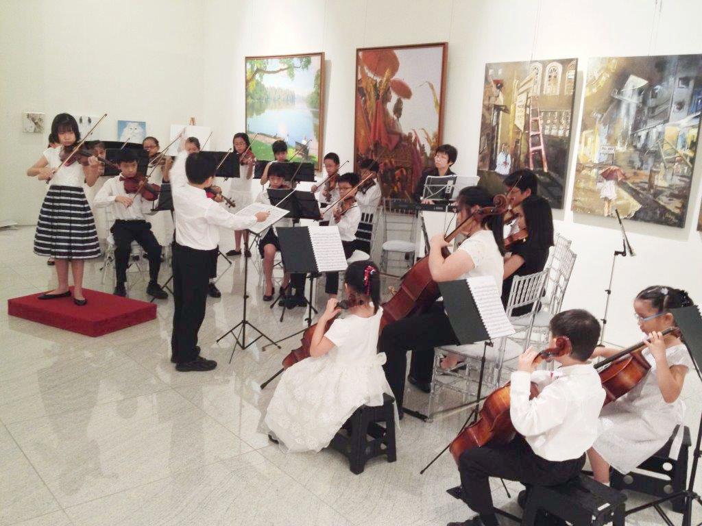 Performance by children musicians