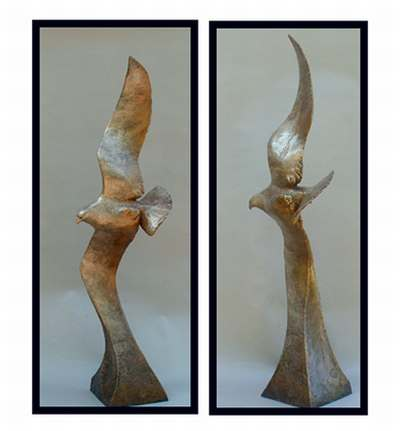 "Coming Home, bronze. 47""x14""x10"". $7,700."