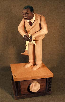 """Satchmo: from American Icon Series, wood. 23""""x11"""""""
