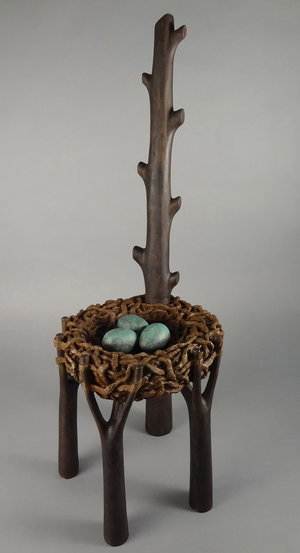 SOLD  edition #2 of 8,  Bird Nest Chair, Bronze