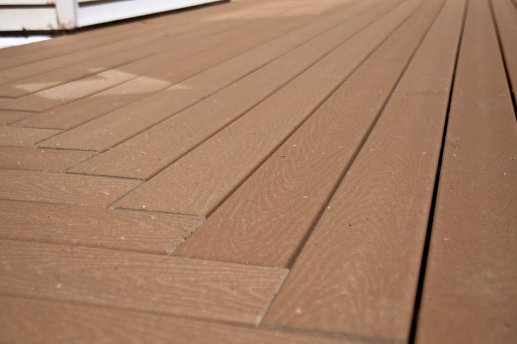 Deck Remodel, Framingham 2011 - After Close Up of Composite Decking
