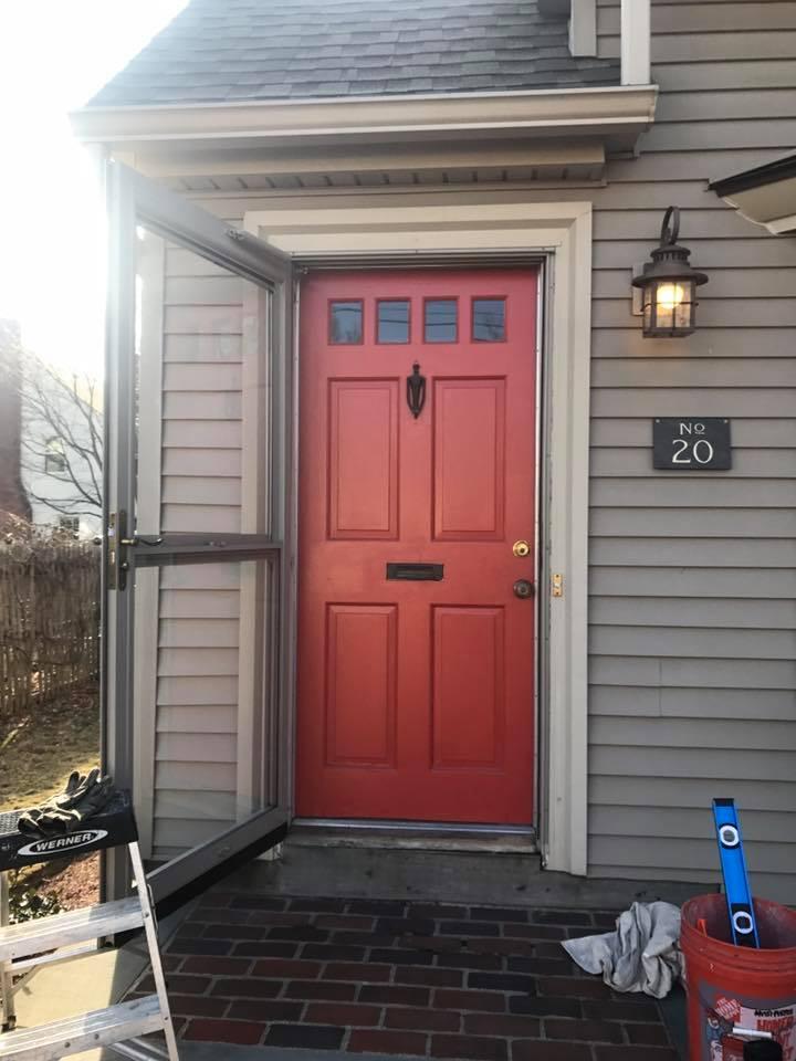 """Before"" Old door in Framingham"