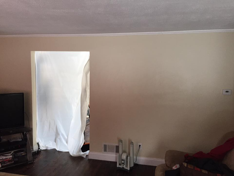 """""""Before"""" Beam Install and Kitchen in Framingham"""