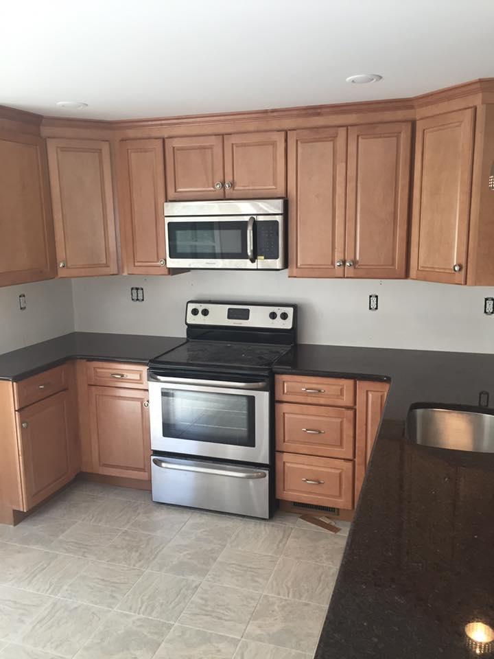 """Cabinets Installed Kitchen, Framingham """"After"""""""