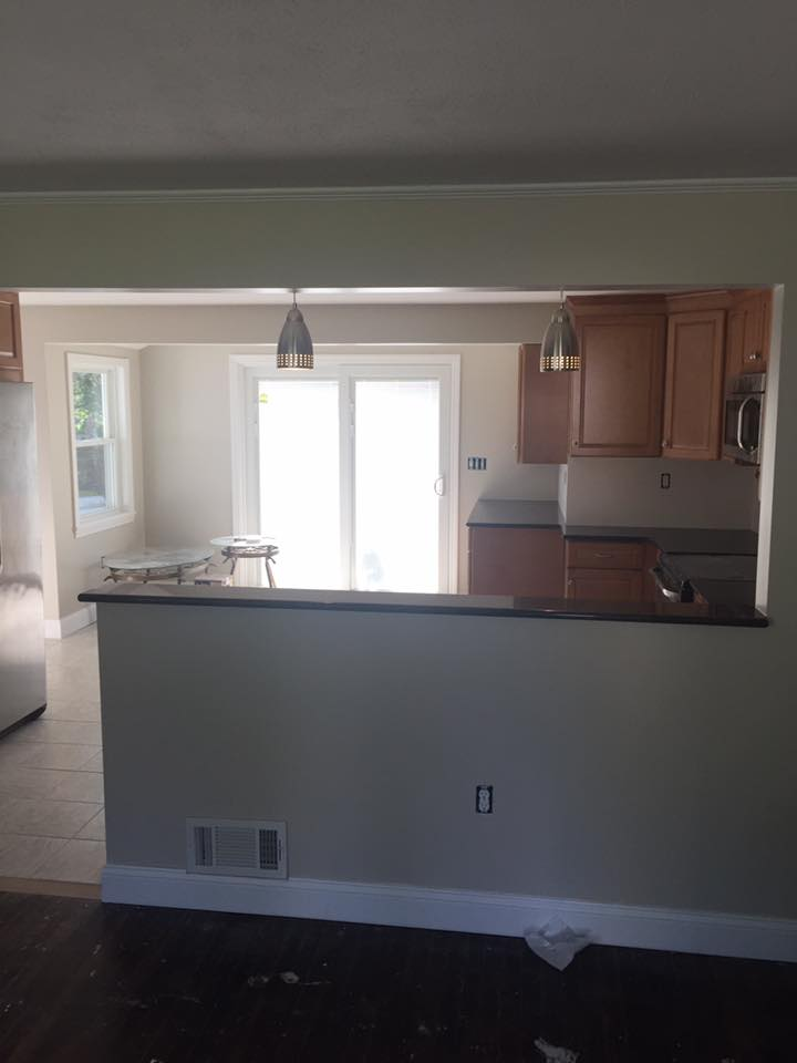 """""""After"""" Beam Install and Kitchen Remodel Framingham"""