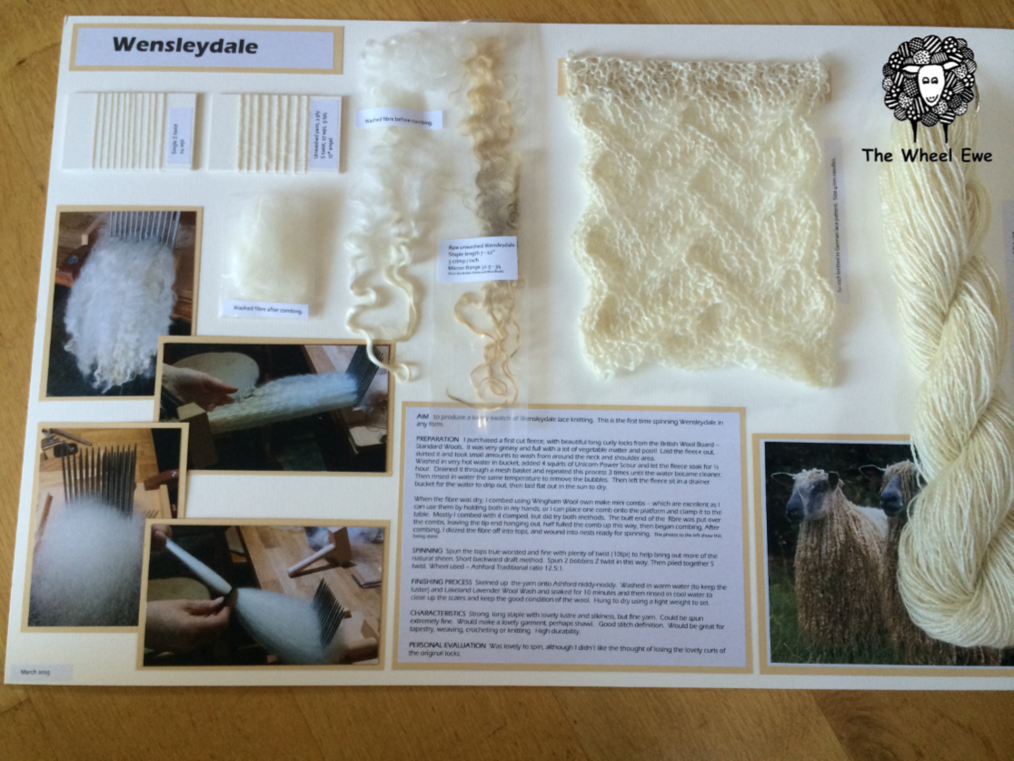 Wensleydale - This was a great leaning piece. The first time using combs.