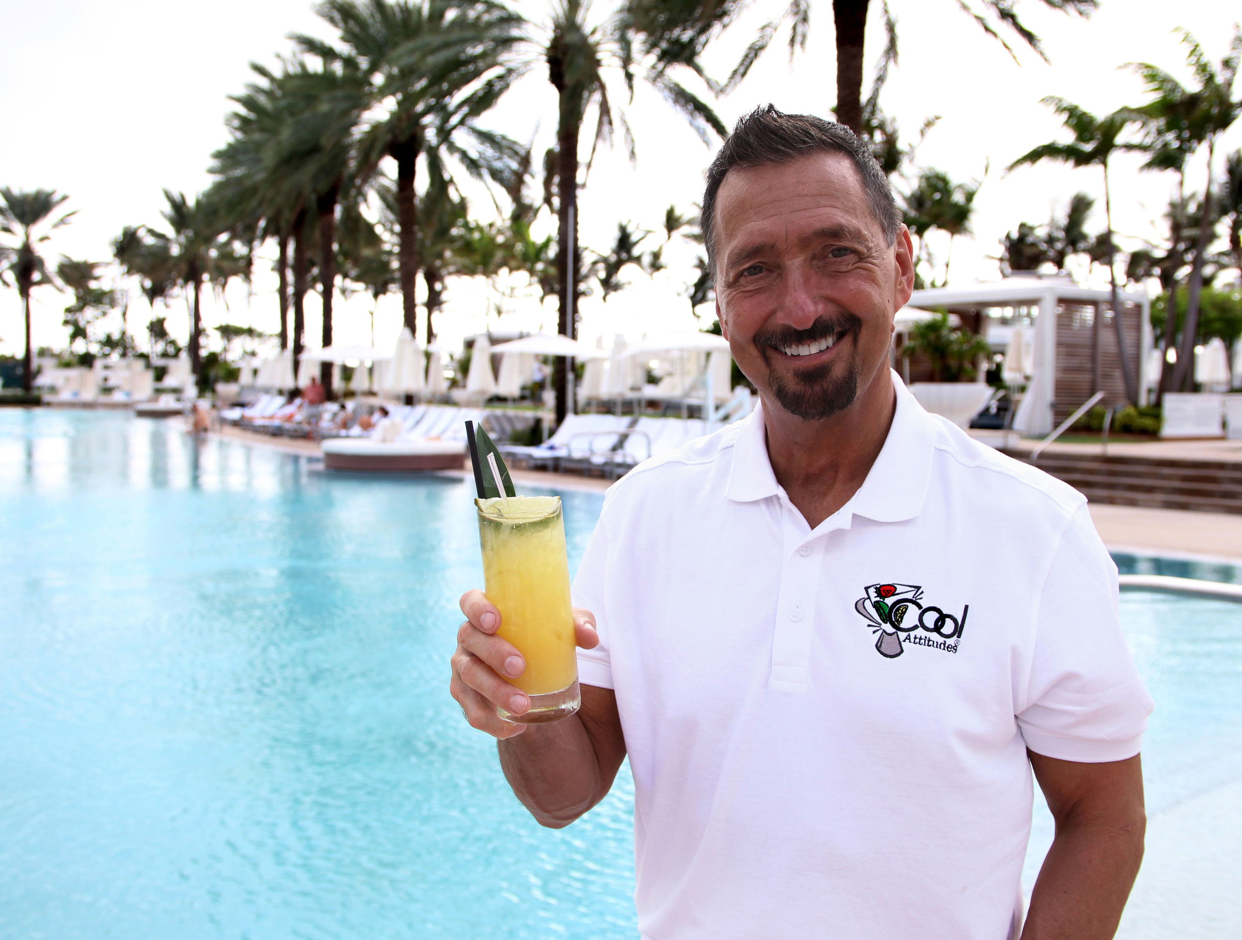 CS Group CEO Rich Davis toasts his new customer Fontainebleau Hotel in Miami, FL