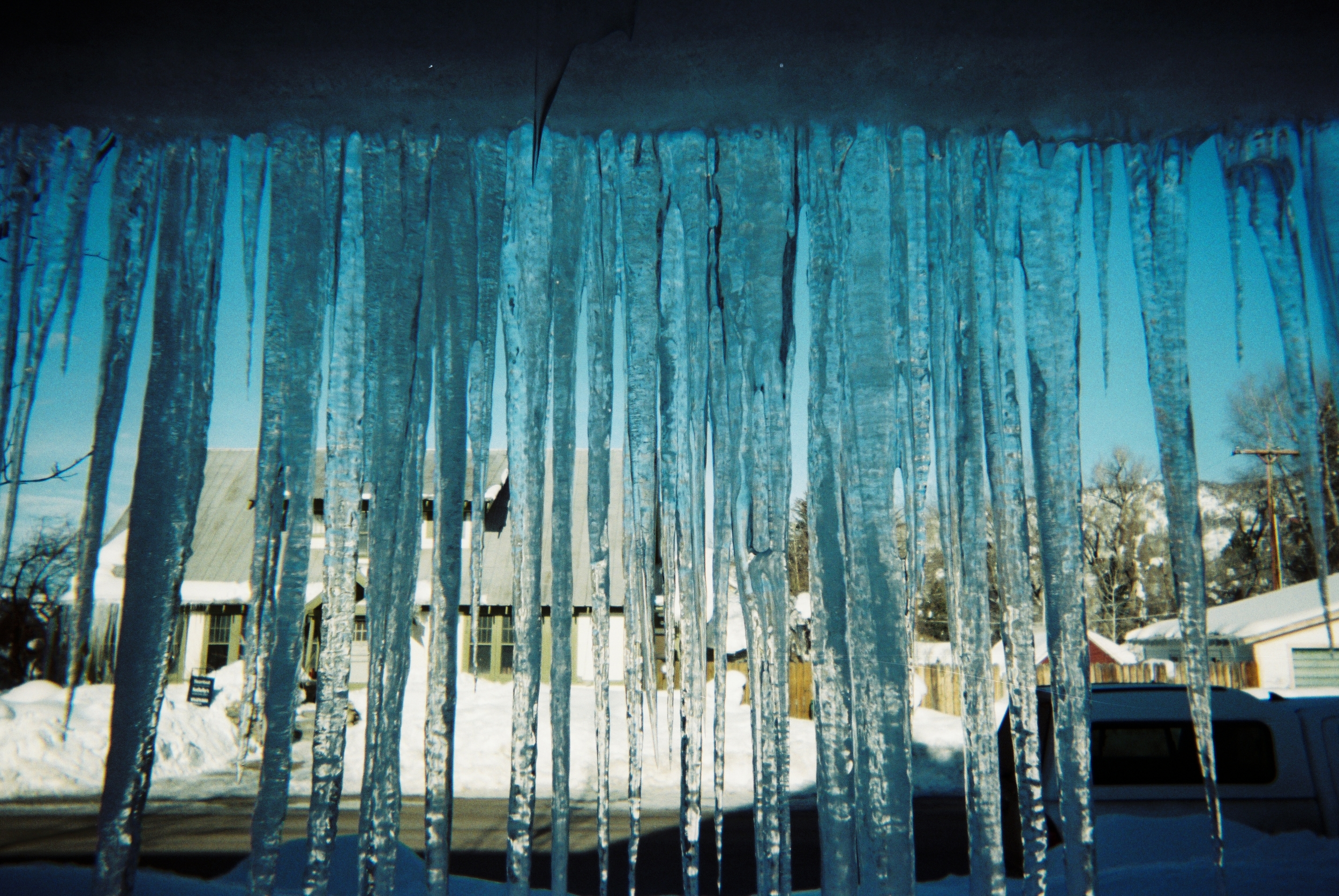 CAUTION  I have always loved icicles, the bigger the better. I think I'm drawn to them the way I am drawn to many things that are beautiful and dangerous. A spiritual life that draws us closer to God is not always safe but it usually leads us to somewhere beautiful.  -Rebecca Crummey