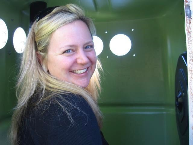 Looking out of a port-a-potty at the Grand Canyon during the move from Houston to Seattle. I look happy in this moment, but I was overwhelmed with grief for the life I left behind me. See how puffy my eyes are? I didn't even take any photos of the Grand Canyon.