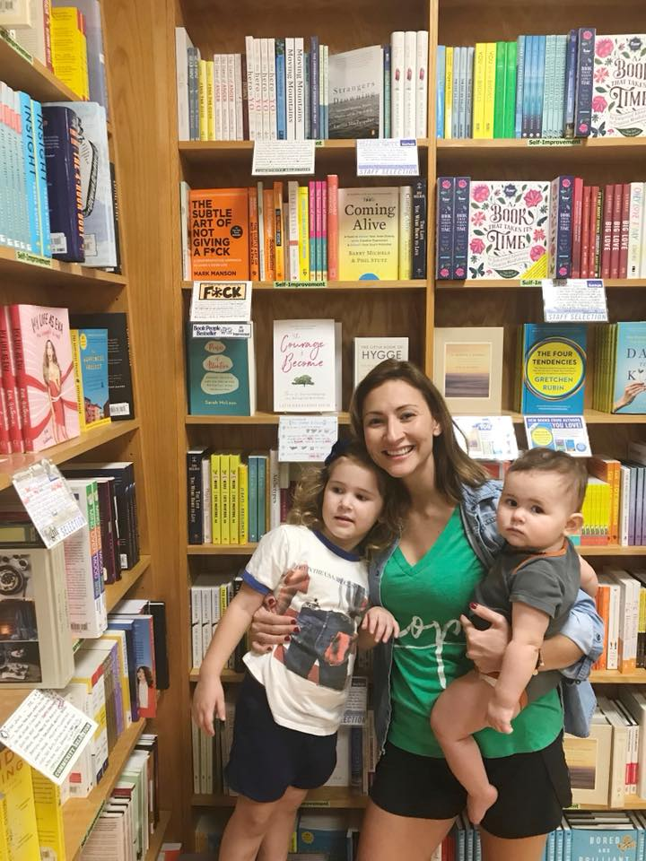 With my girls celebrating the release of my book at Book People in Austin, 2017