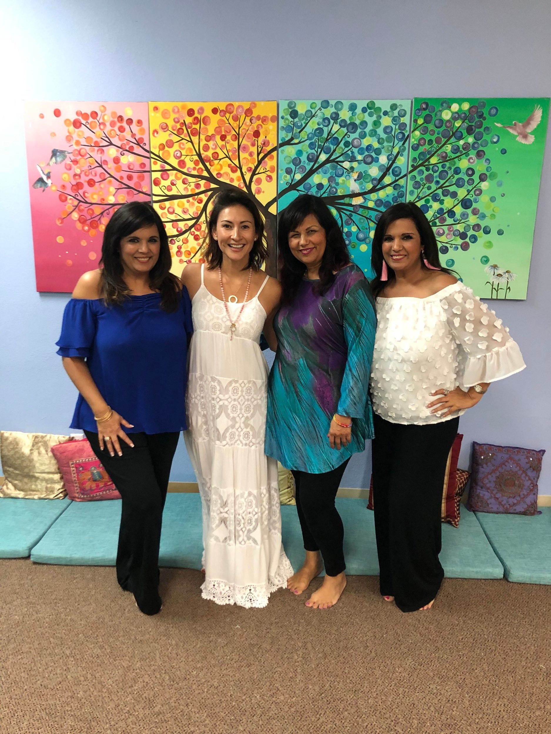 Malka, Me, Saju and Alka - Three of the sisters who founded Infinite Love