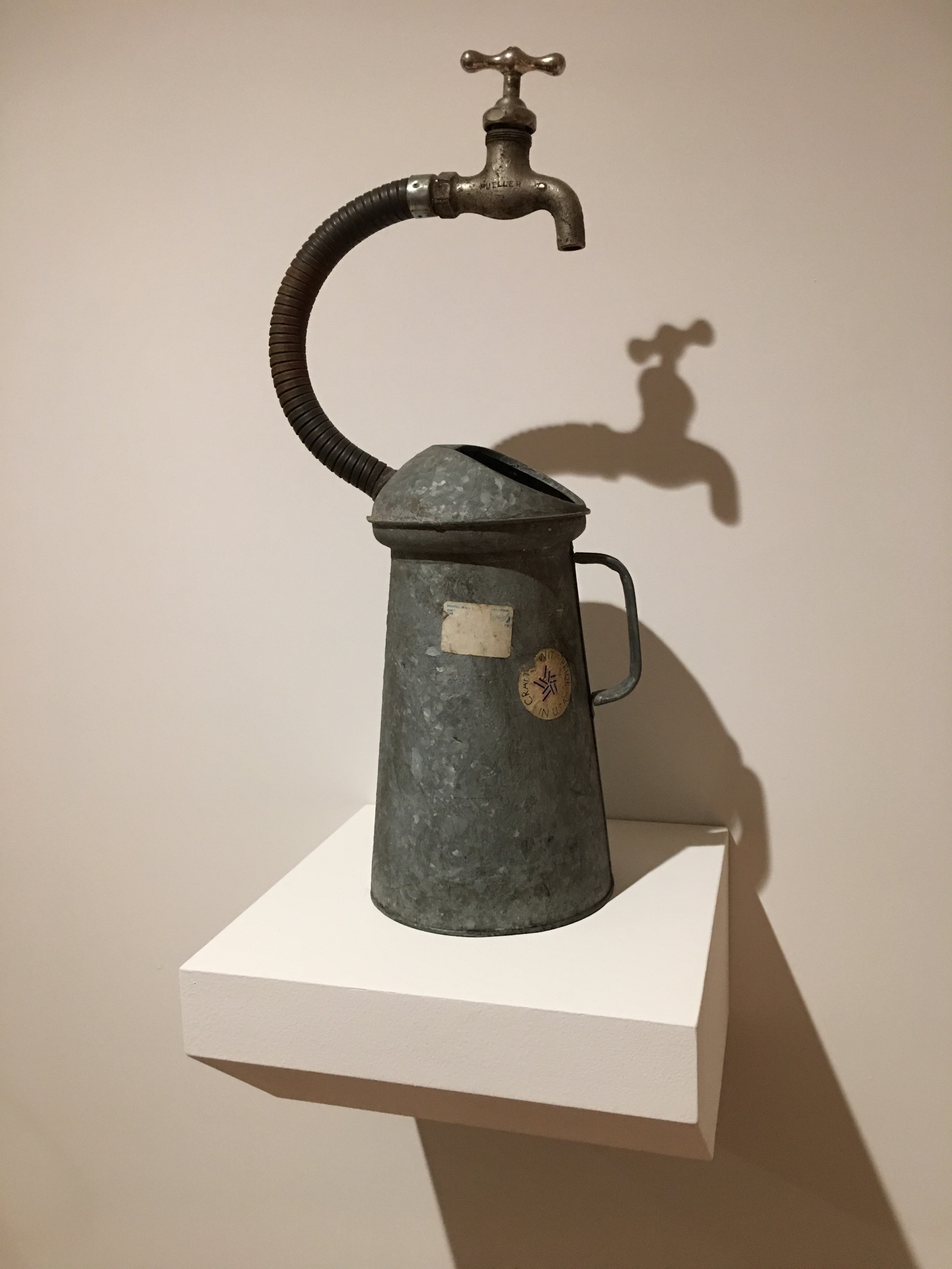 "Self-filling watering can by Lonnie Holley (""JG Thirwell's Tumblr"", Mass MOCA, 2017)"