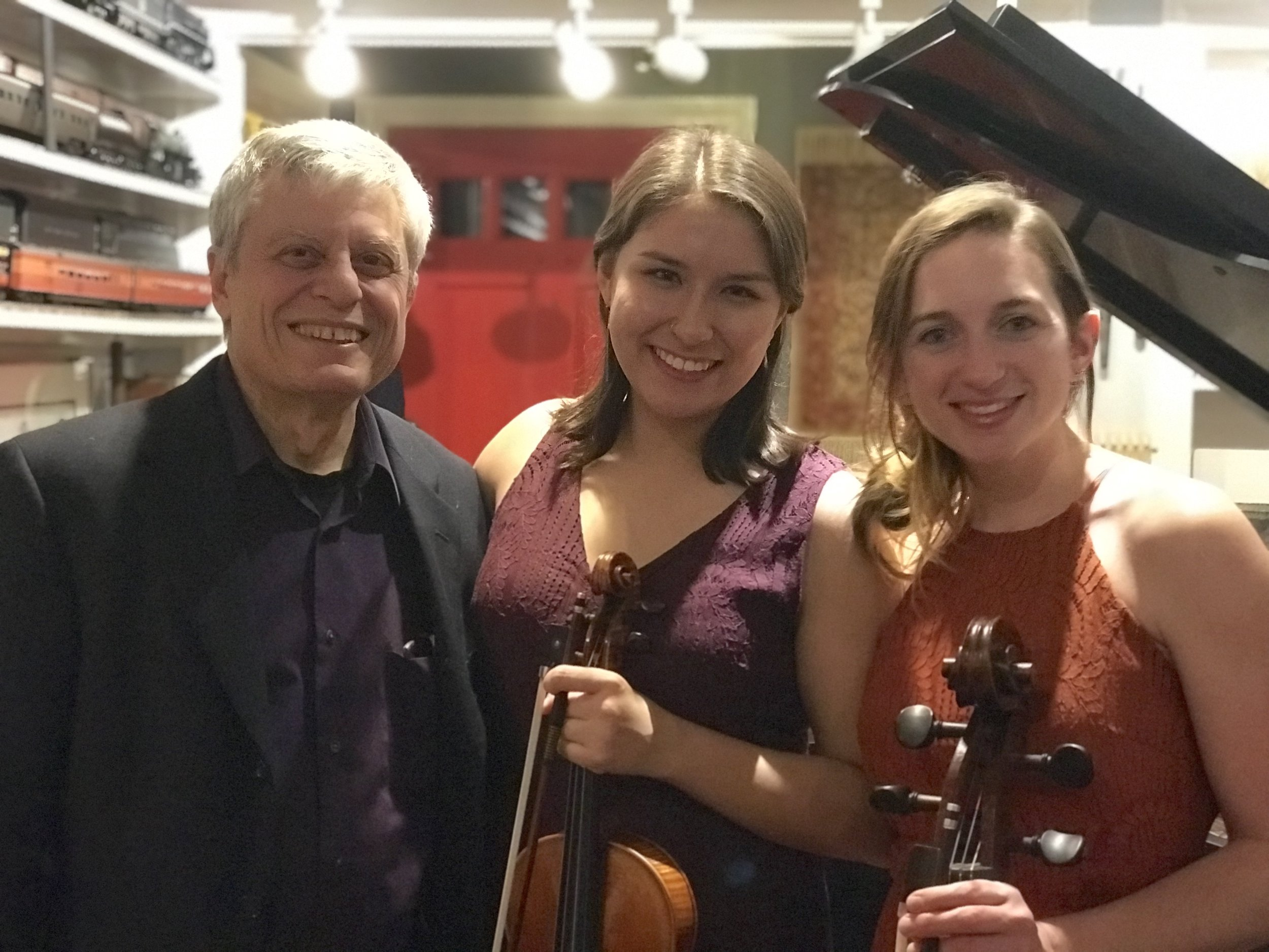 The Milo Trio: Carl Banner, Celaya Kirchner, and Emma Hays Johnson (photo by Tricia Johnson)