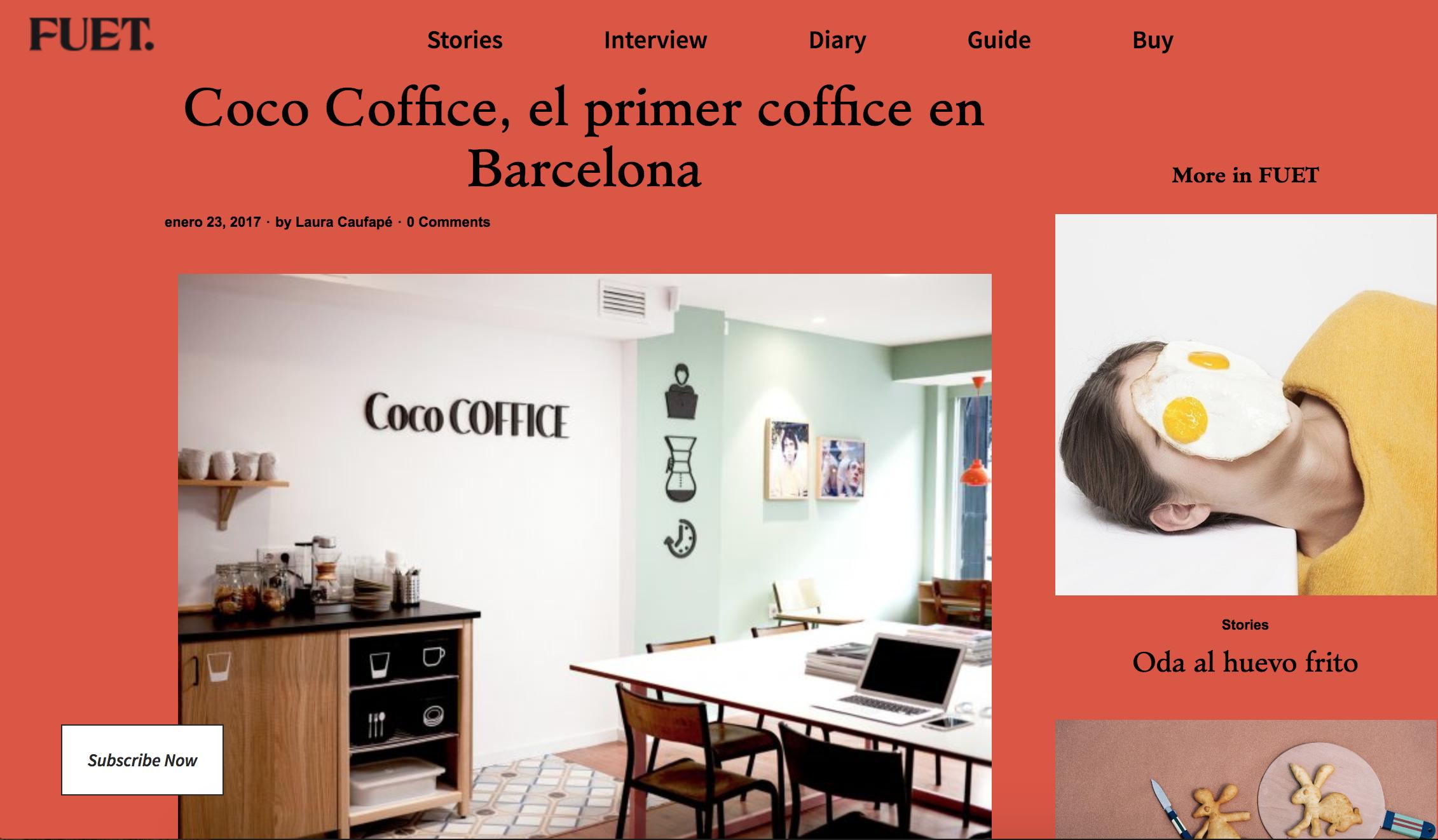 Coco Coffice, el primer coffice en Barcelona