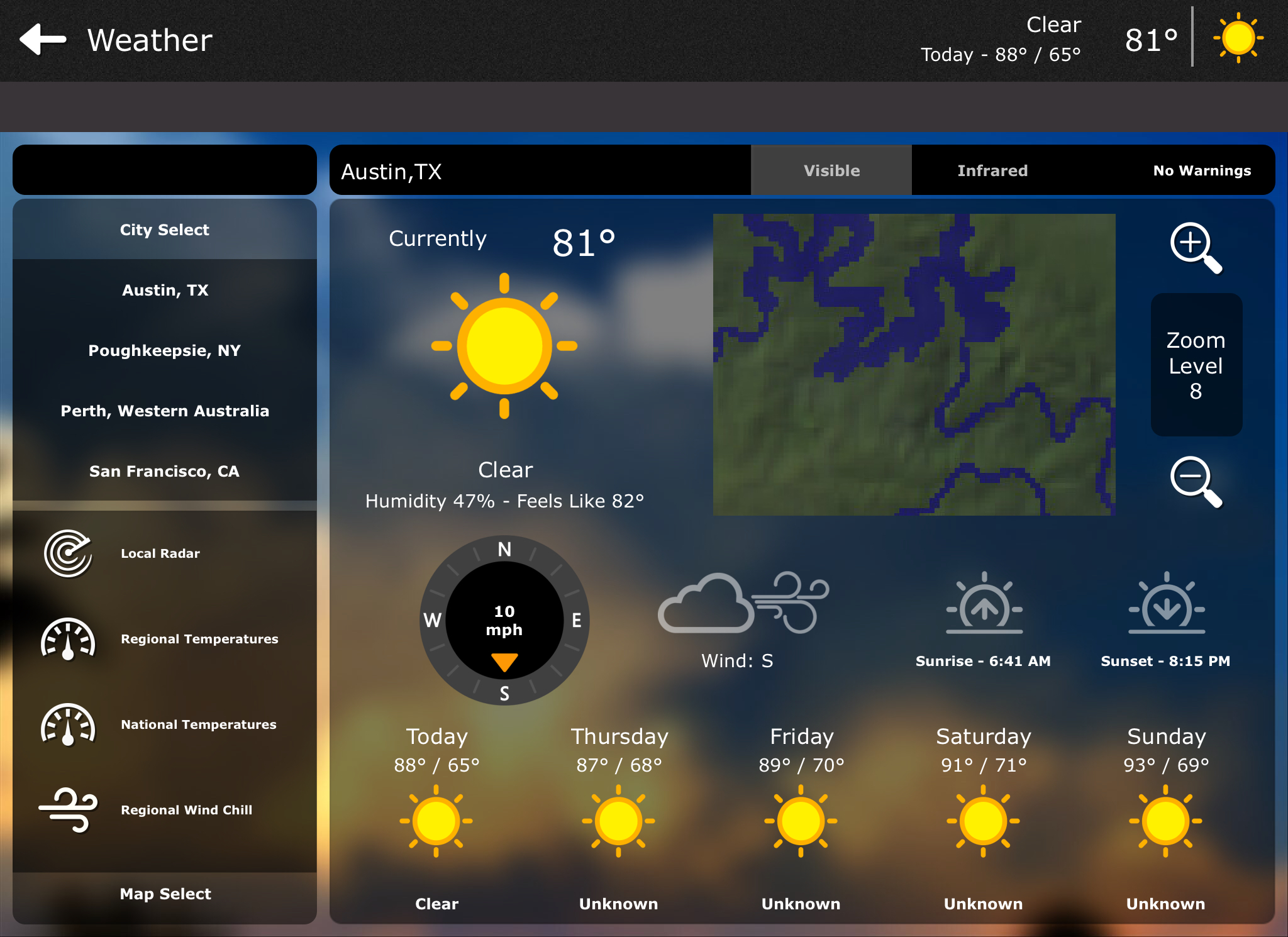 Austin Home Automation & Weather