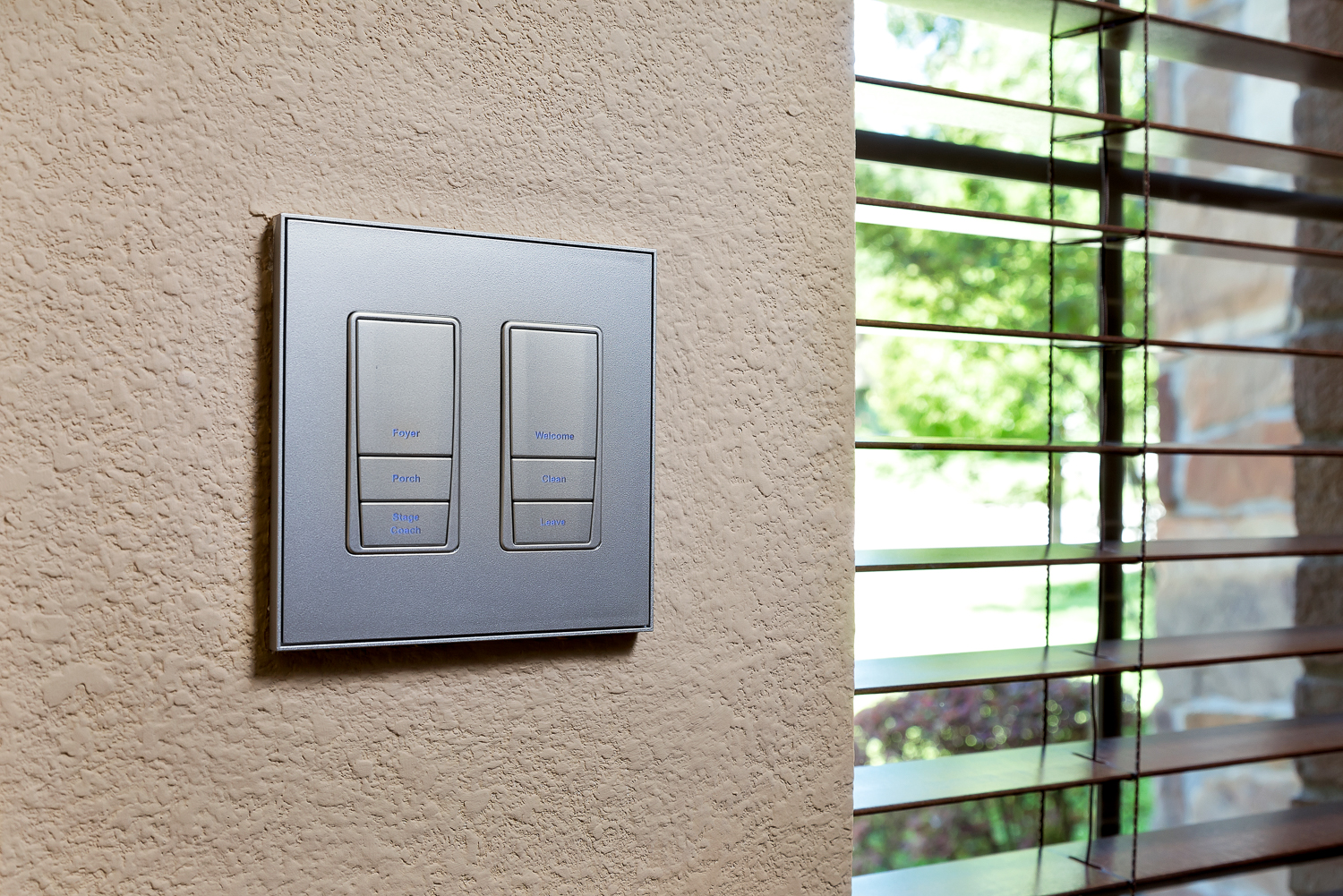 The Vantage Lighting Switches All Throughout the Home
