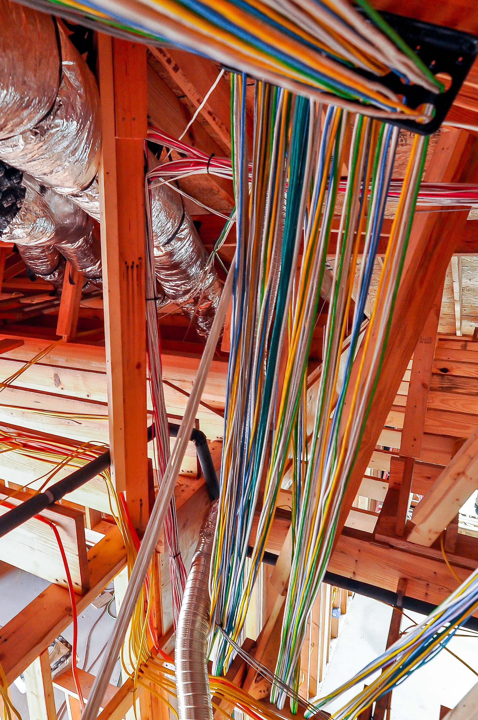 Amazing wiring job in this Austin Spanish Oaks Prewire.jpg
