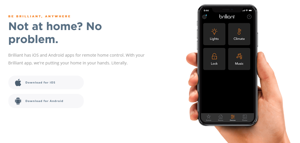 Take your home automation control with you on the go by using the smart phone app.