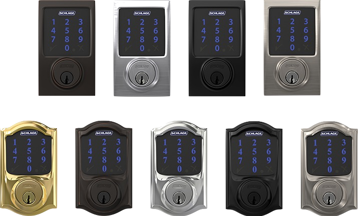 Schlage Connect lives up to its name - it truly is a lock for the connected age. With so many advanced features, this isn't just a lock. It's the lock, loaded.  Security:  Schlage Connect is BHMA/ANSI Grade 1 certified, the highest residential rating. Built from high-quality materials, this keyless deadbolt gives you the highest level of security at the main point of entry. Additionally, Schlage Connect comes with a built-in audible alarm sensor that alerts you to activity at the door. You can select between three alert modes - activity, tamper, or forced entry - providing alerts from first contact with door or handle to when the door is opened. Quickly and easily cycle between three settings simply by pressing a button on the lock.