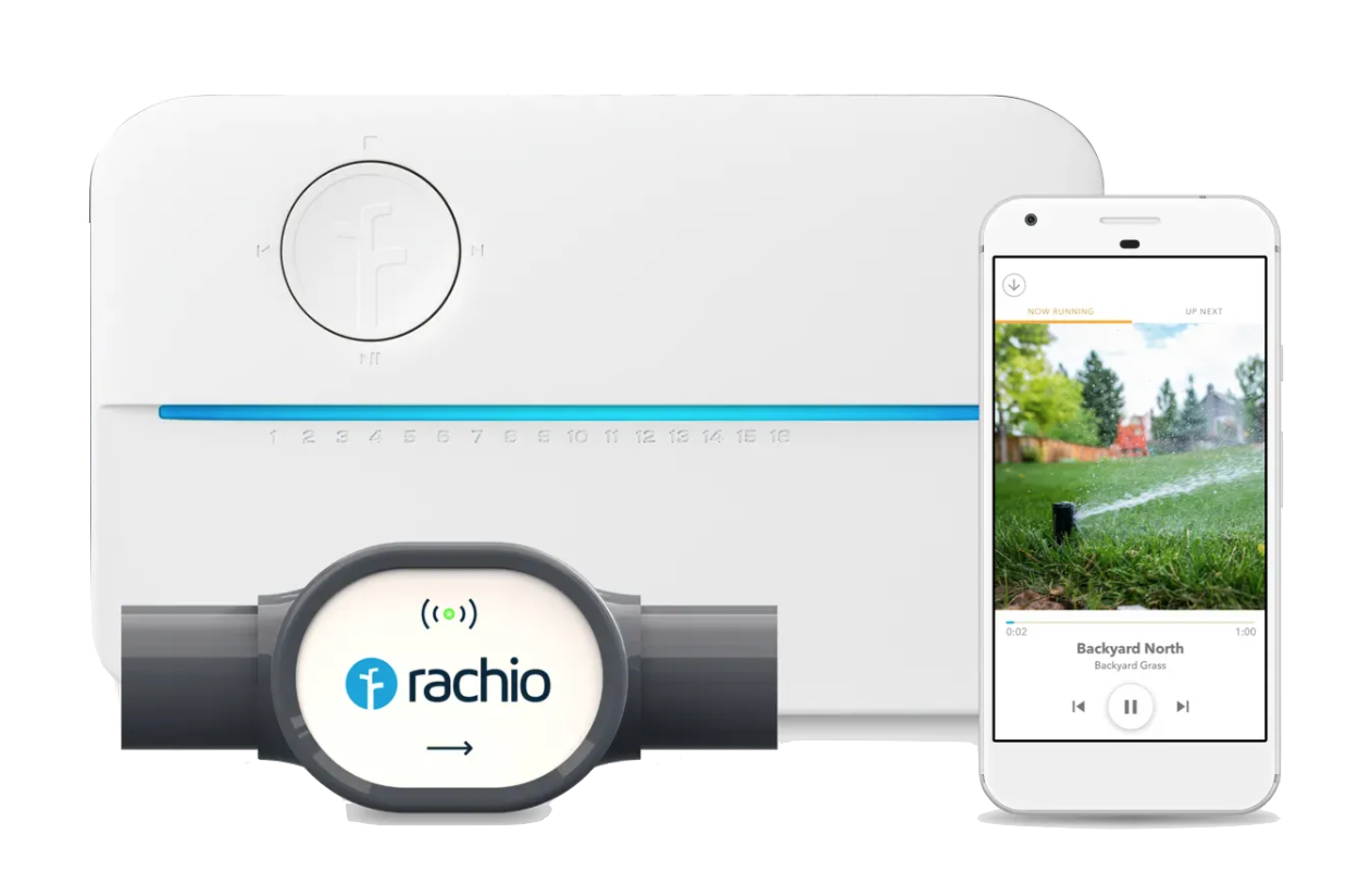 With leading smart watering control, hyperlocal Weather Intelligence™ Plus and leak detection, the Rachio 3 Smart Sprinkler Controller and Wireless Flow Meter help you monitor and manage outdoor water use.