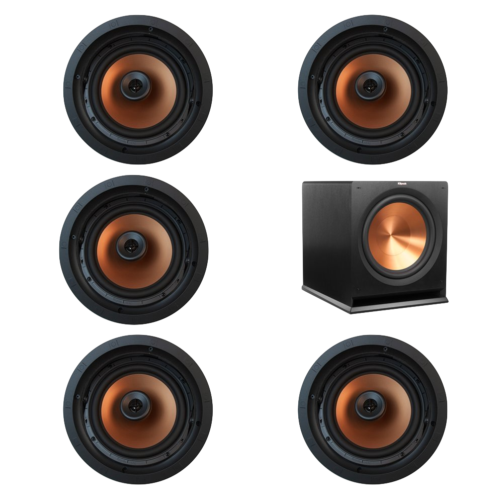 Every line of Klipsch In-ceiling speakers is based on an equivalent model of our traditional box speakers. This means you're getting, the same Klipsch horn tweeter, and the same overall performance as our traditional speakers. This also means you can combine in-ceiling speakers with traditional Klipsch speakers with no loss of performance.