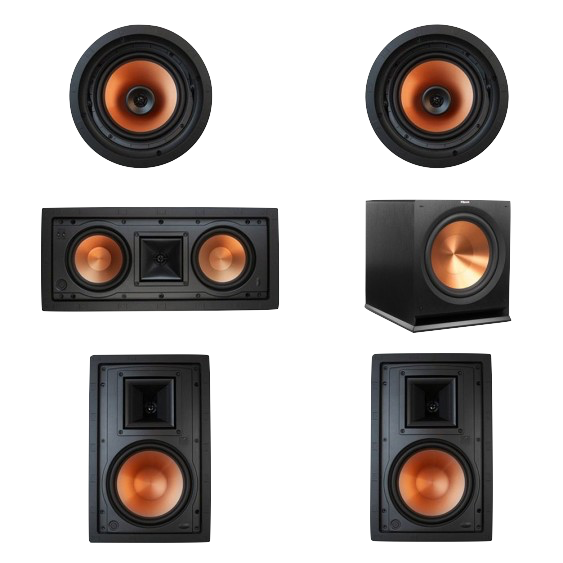 In wall & in ceiling 5.1 surround sound - Smarter Homes of Austin's 5.1 home theater installation packages with recessed in ceiling and in wall speakers.