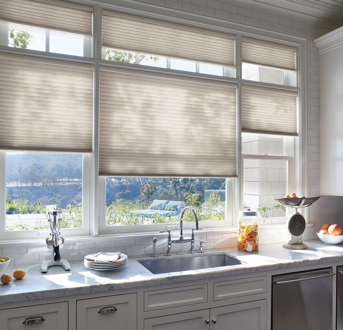 Kitchen shades for lighting and comfort