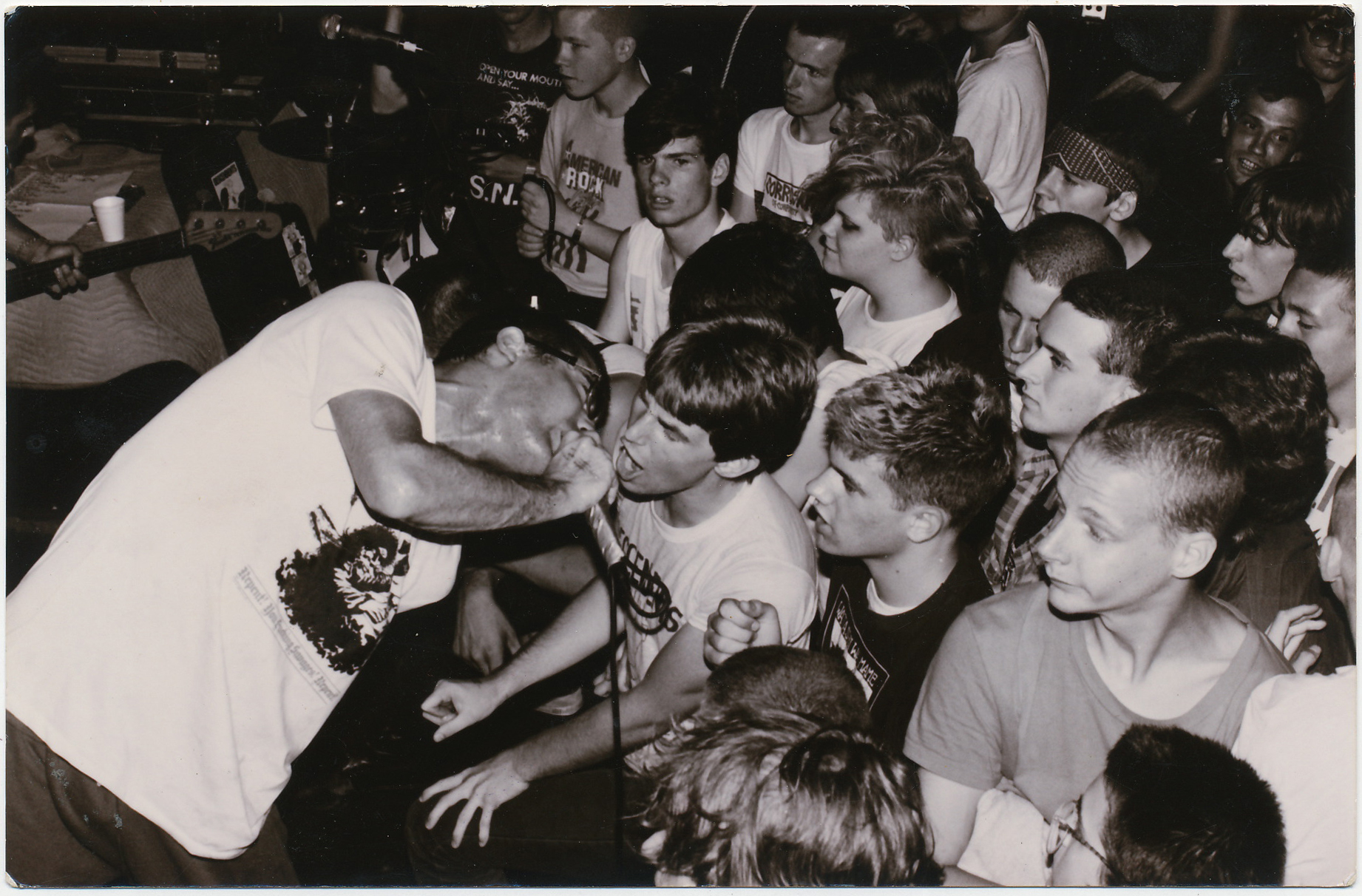 A 16 year old Chris Murphy with Milo Auckerman of Descendents - The Rising Sun, Montreal -  Photo by Marc Ducharm