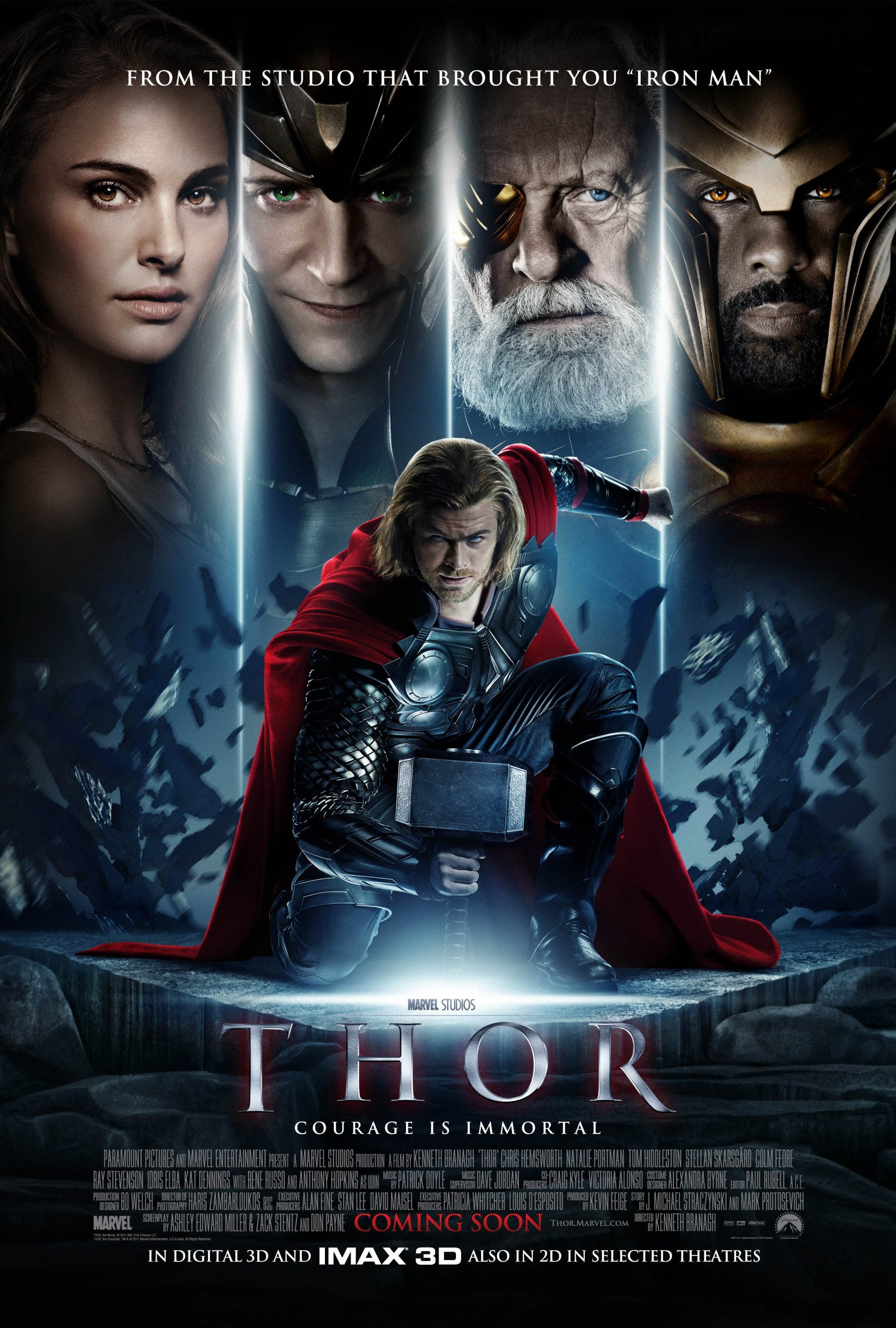#15 Thor - As I mentioned earlier, growing up, Thor was my fav. And I was stoked for this flick. And . . . it was fine. That's it. -