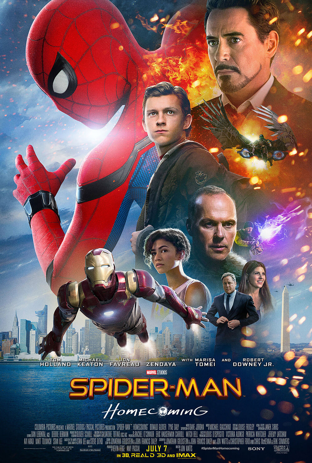 #7 Spider-Man: Homecoming - Hands down, full stop: best (live-action) Spider-Man movie ever. (Spiderverse was awesome!) Keaton's Vulture might be the best villain in the MCU. -