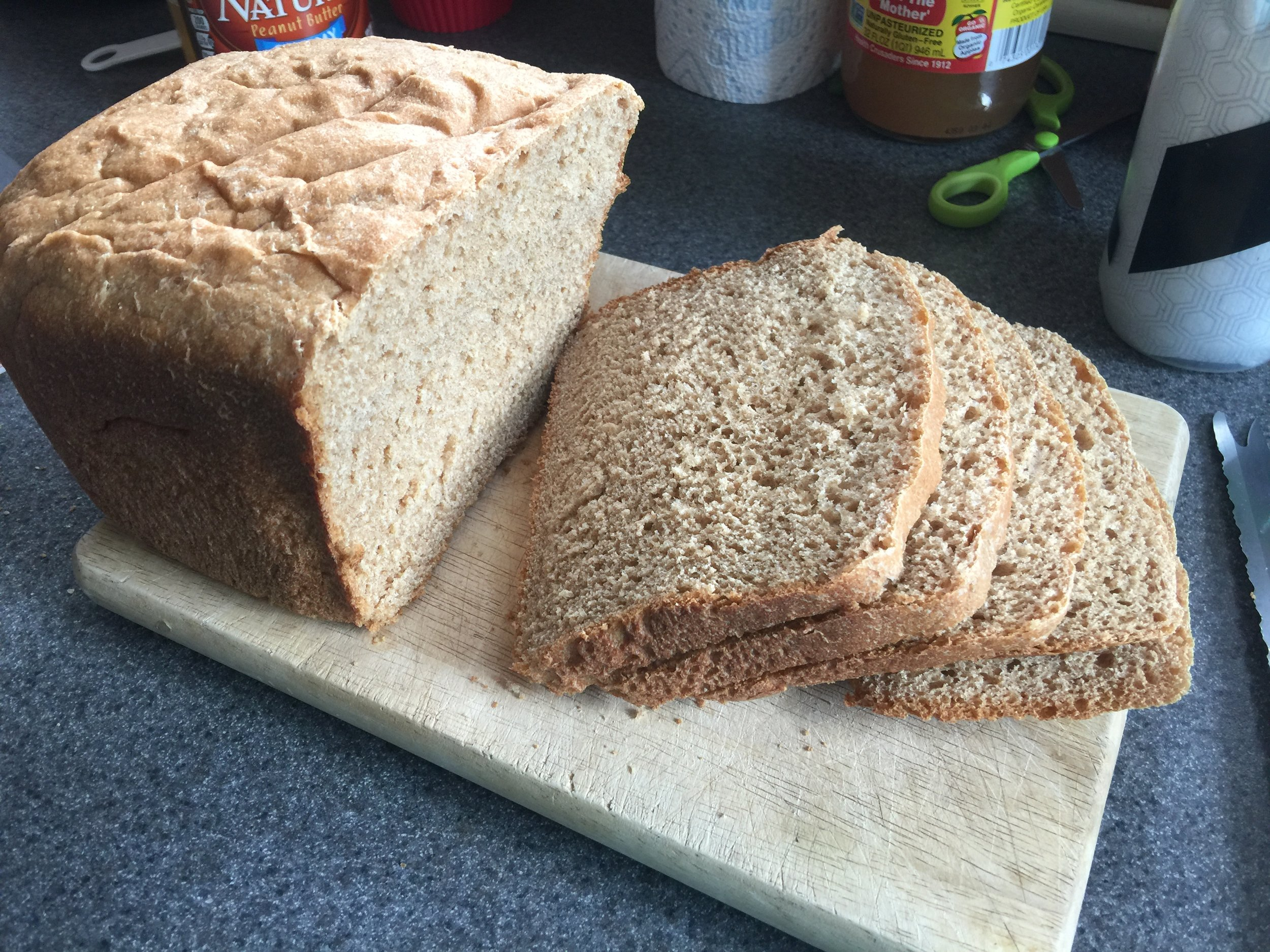Homemade Vegan Bread - Whole Wheat