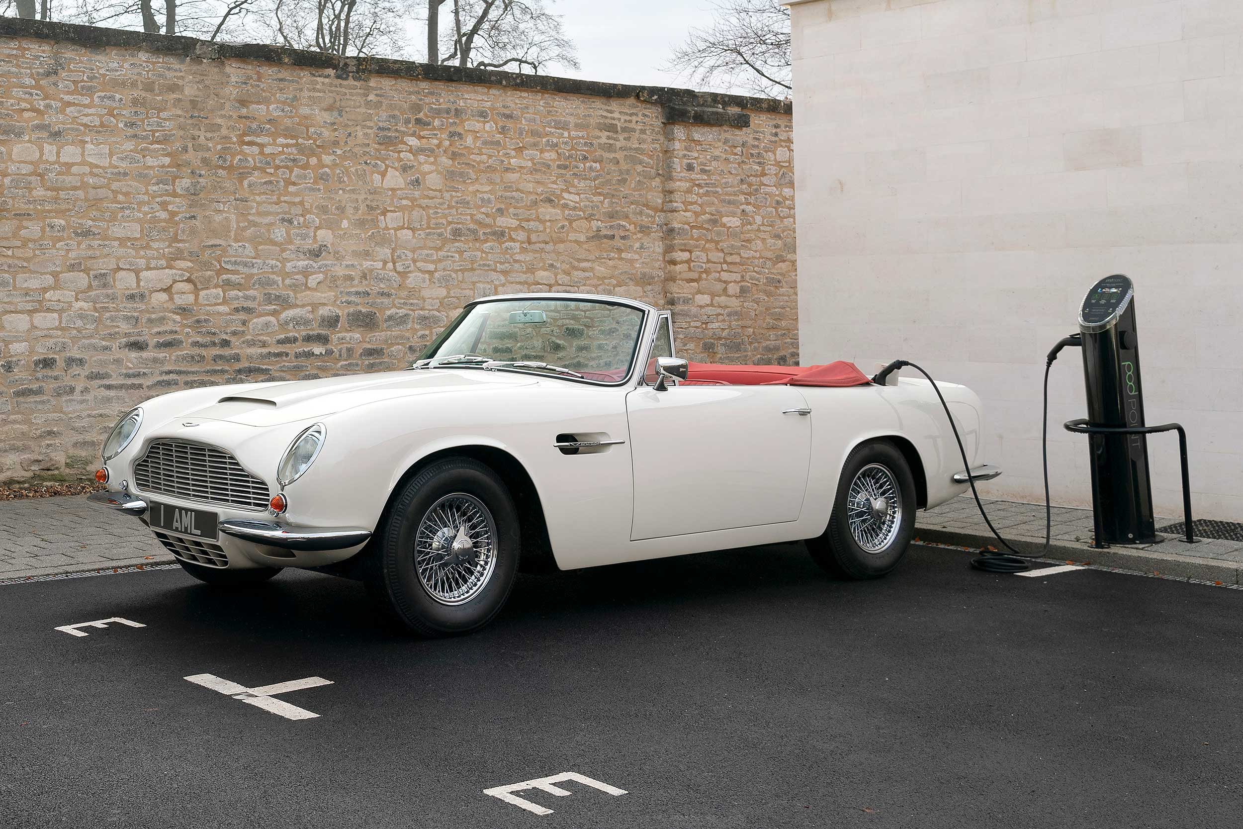 An electric DB6, picture from Aston Martin.