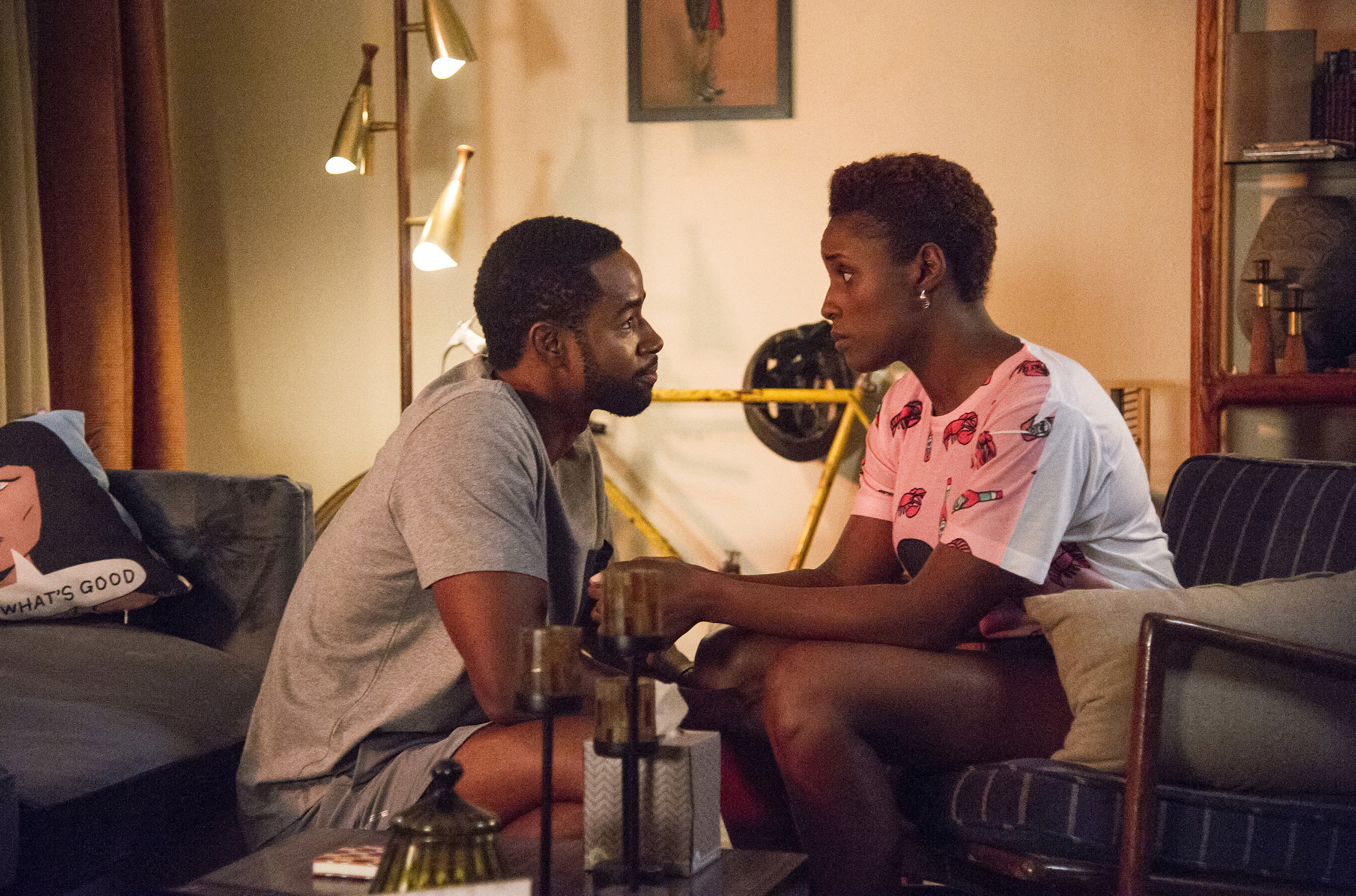 "Jay Ellis and Issa Rae in HBO's ""Insecure"". Anne Marie Fox 