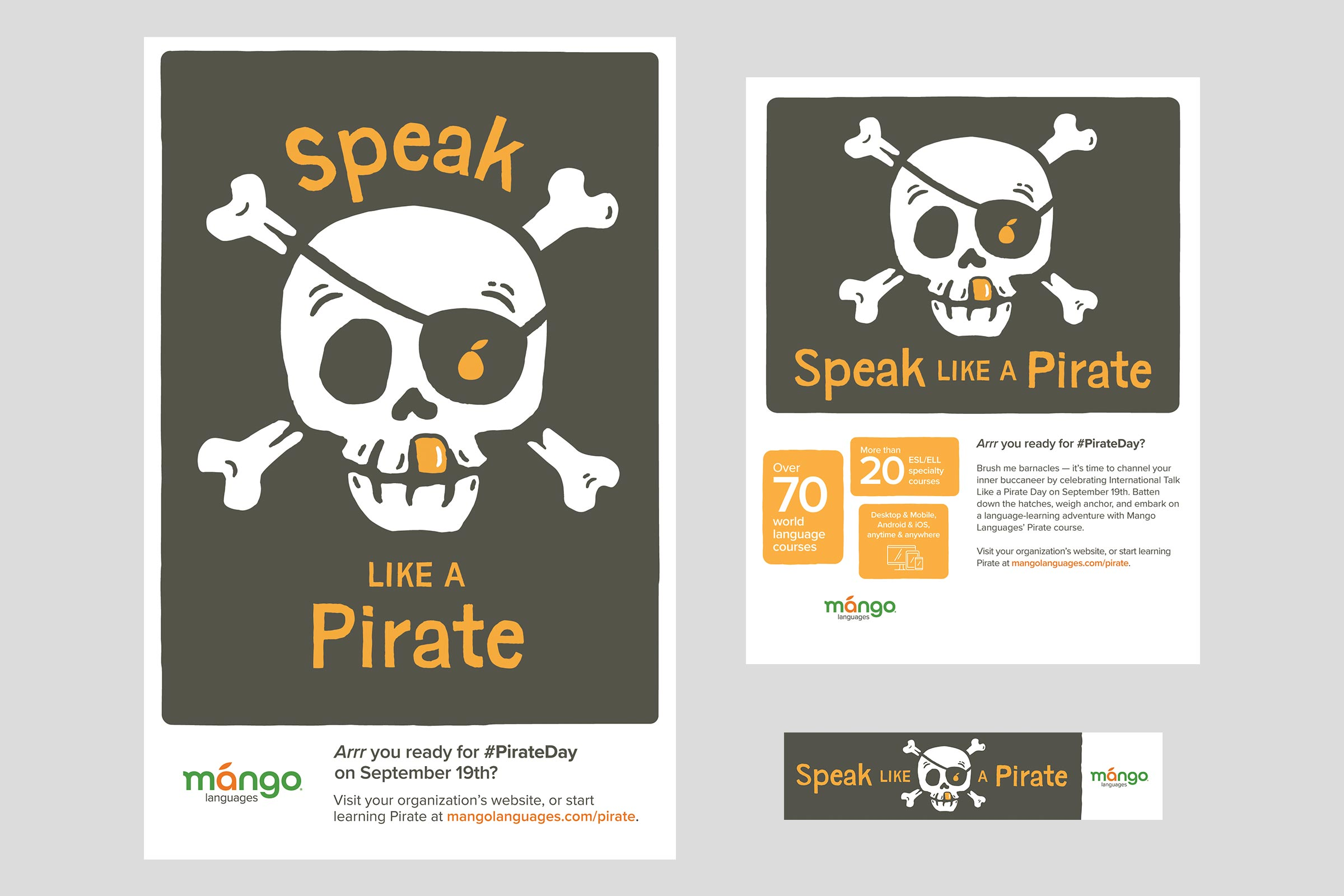Pirate Day promotional kit (Poster, Flyer, Bookmark)