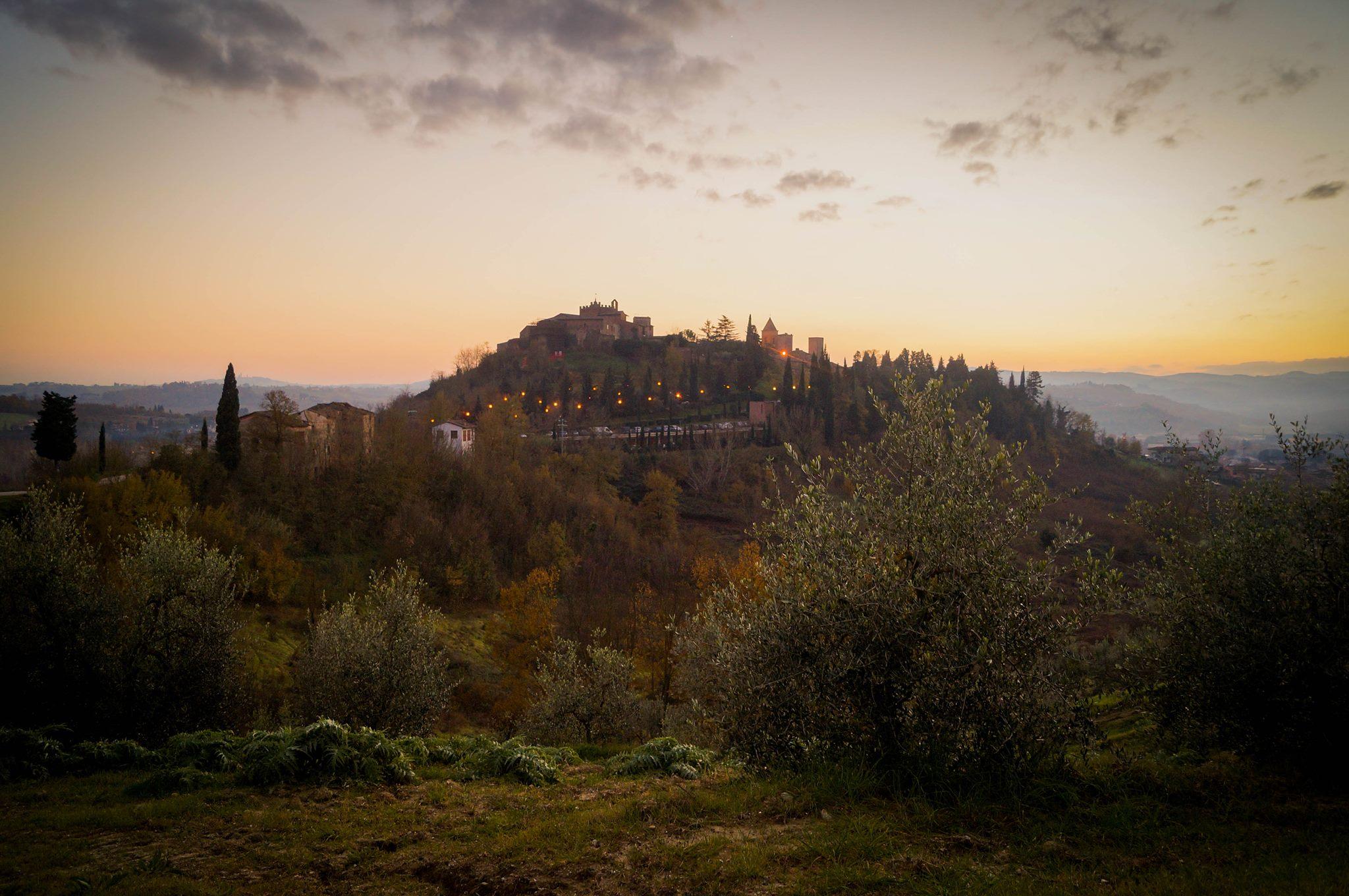 A view of Certaldo Alto, my Italian home.