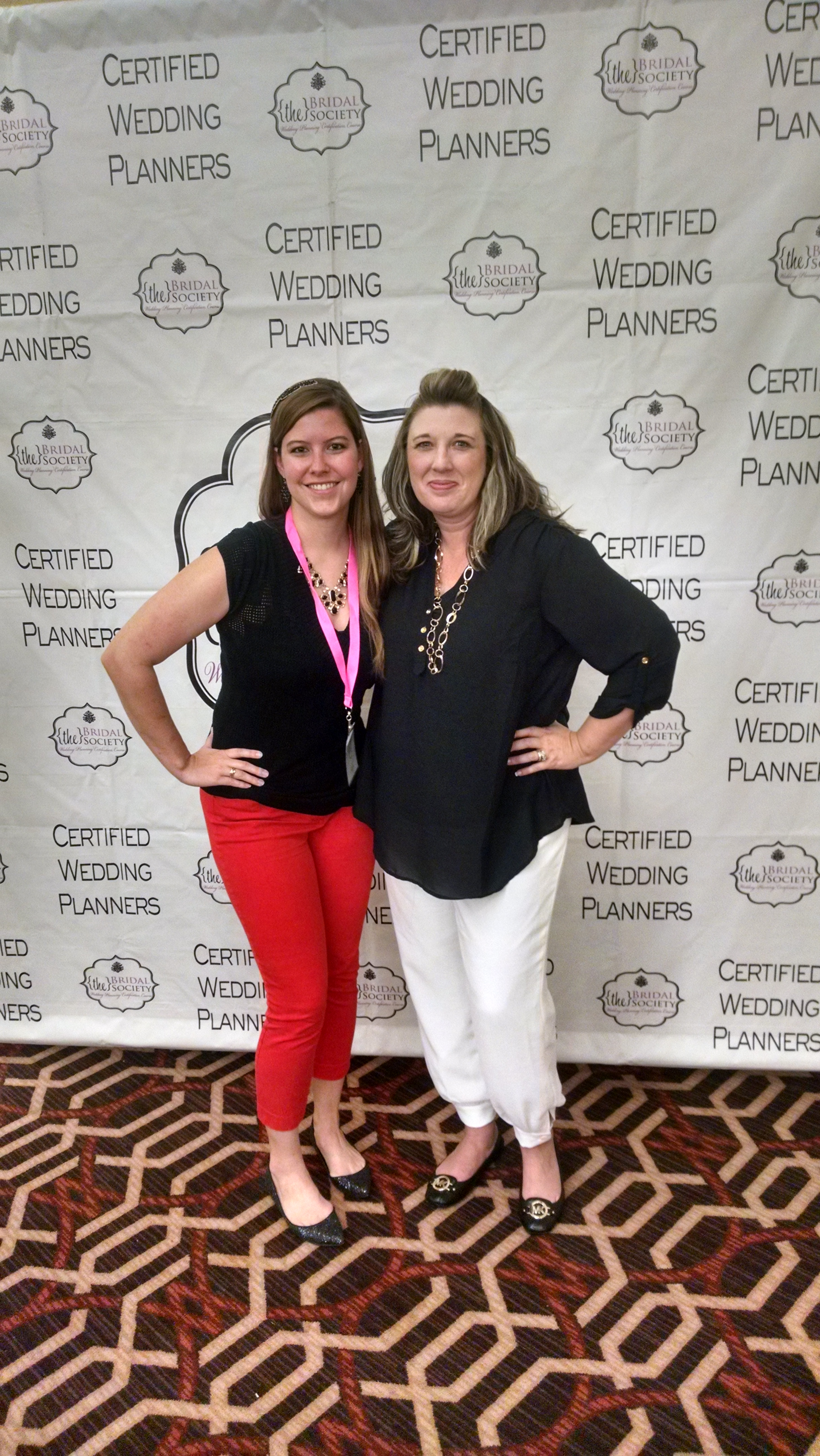 Laurie Hartwell, Wedding Planner Extraordinaire and Most Enjoyable Teacher Ever and me near the end of Day 2!
