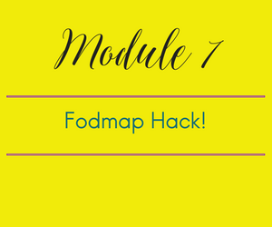 Module 7. Fodmap Hack! How to Sneak a snack when hunger attacks!!