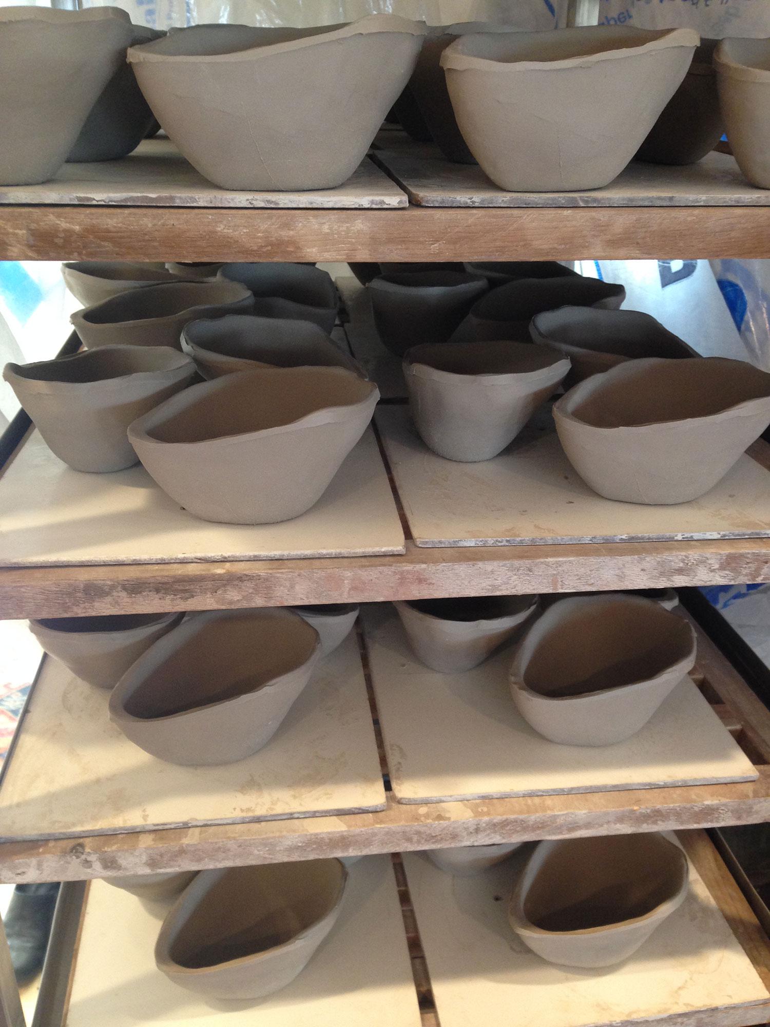 Drying Sauce Bowls