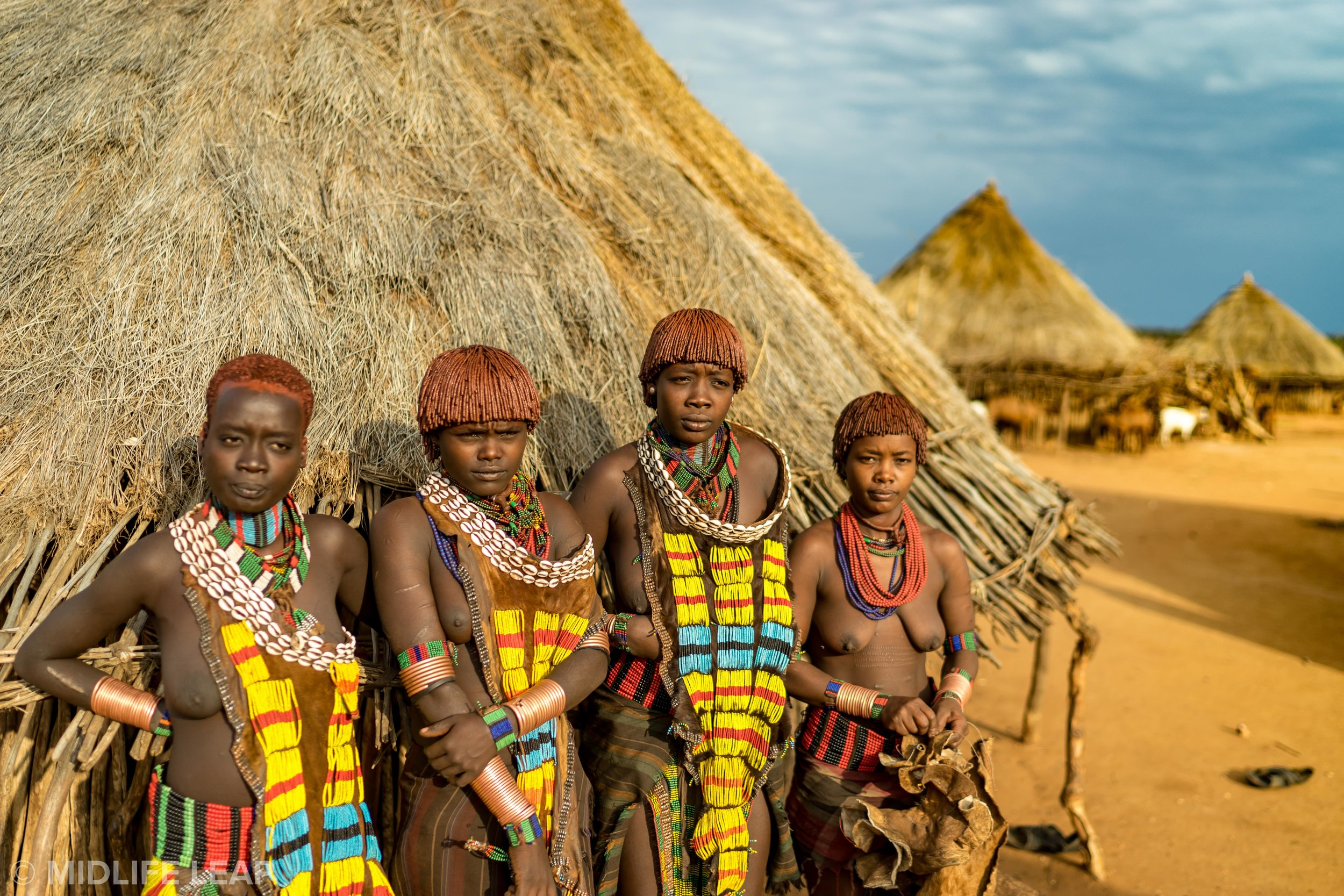 The women of the Hamar Tribe