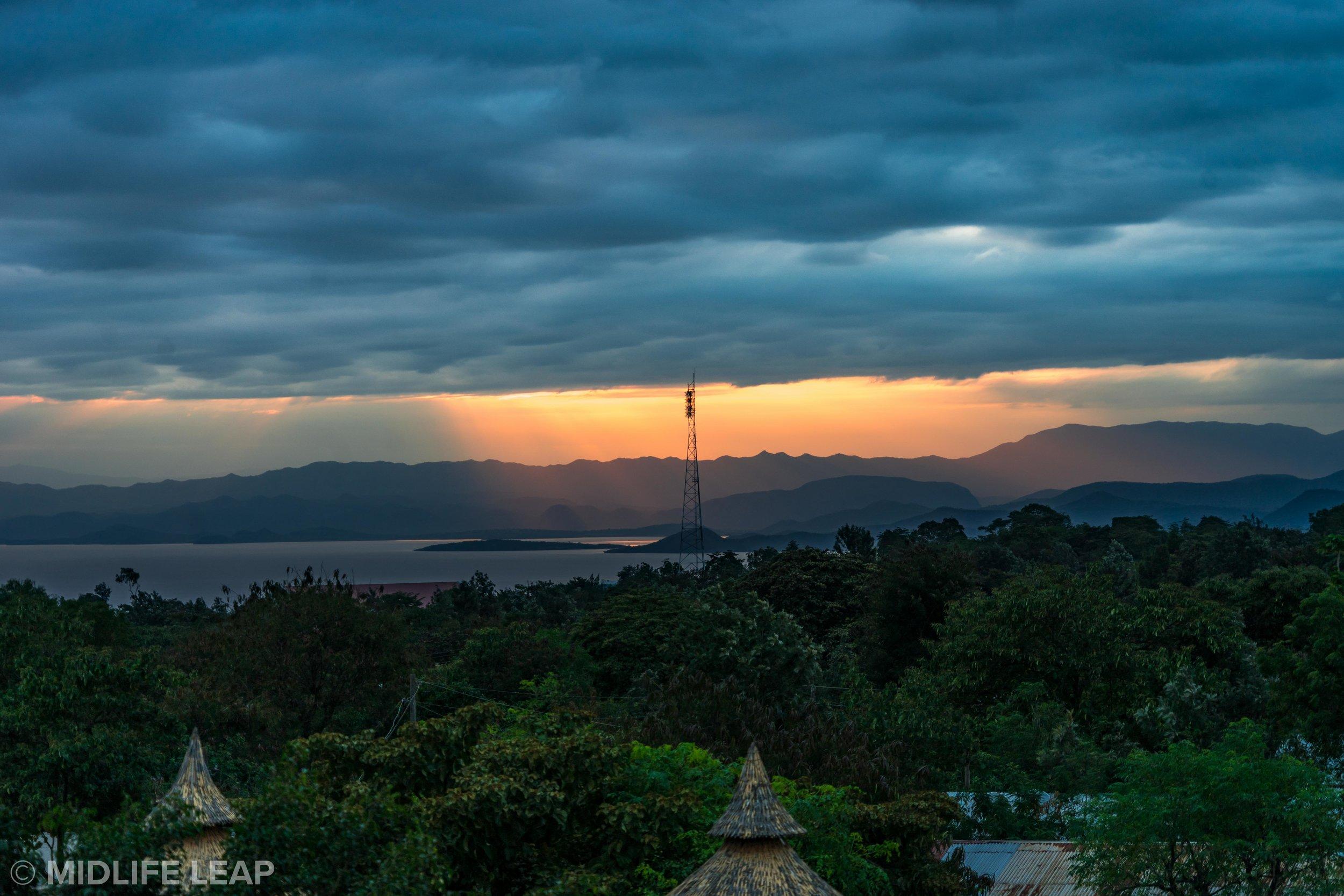 Sunrise over Chamo Lake.