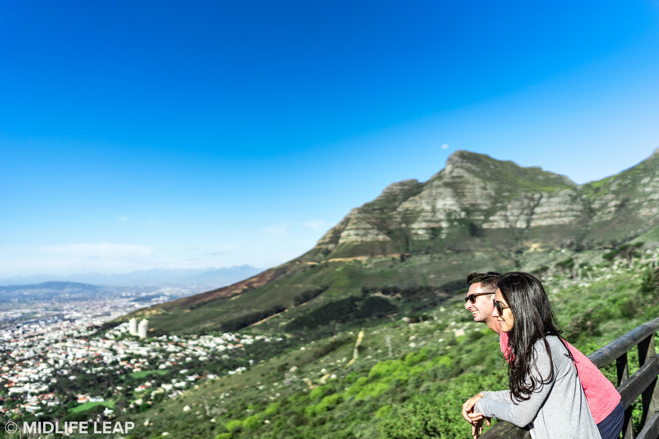 A viewpoint from the base of the Table Mountain gondola