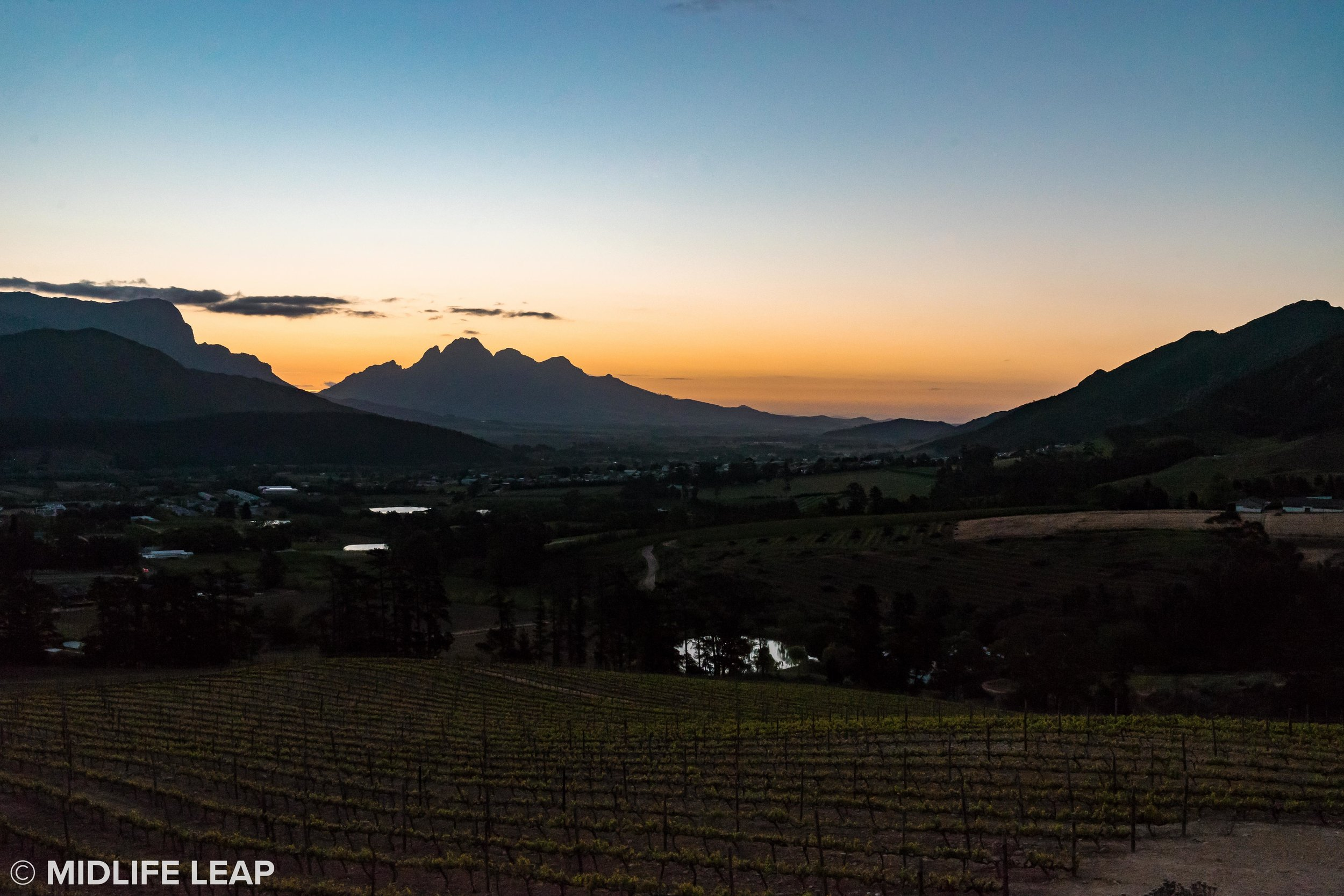 The beautiful landscape of Franschhoek