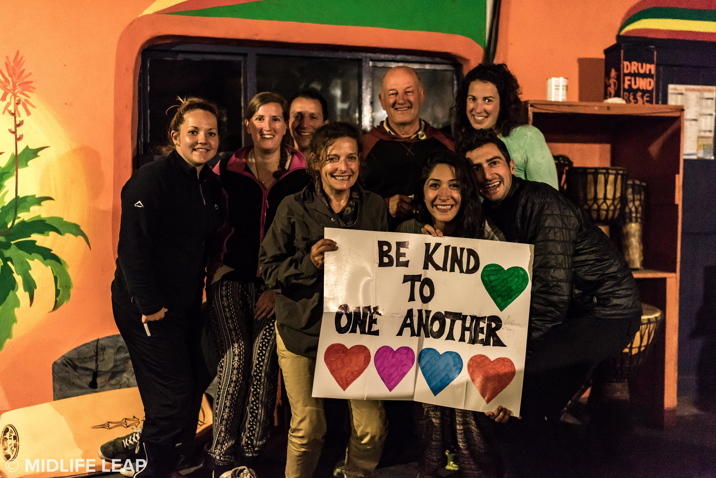 Our crew at Bulungula and #BeKindToOneAnother