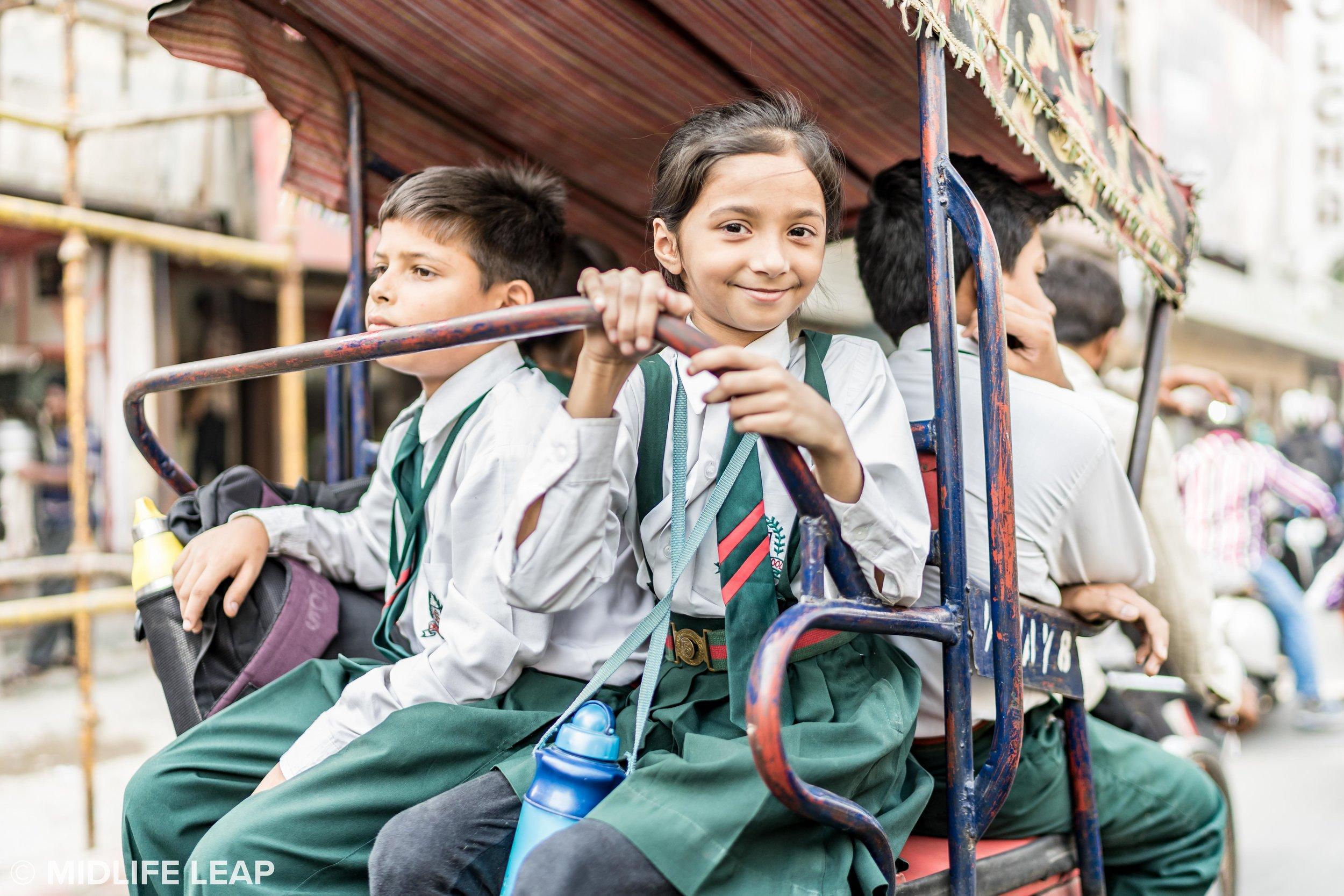 Rickshaw school bus