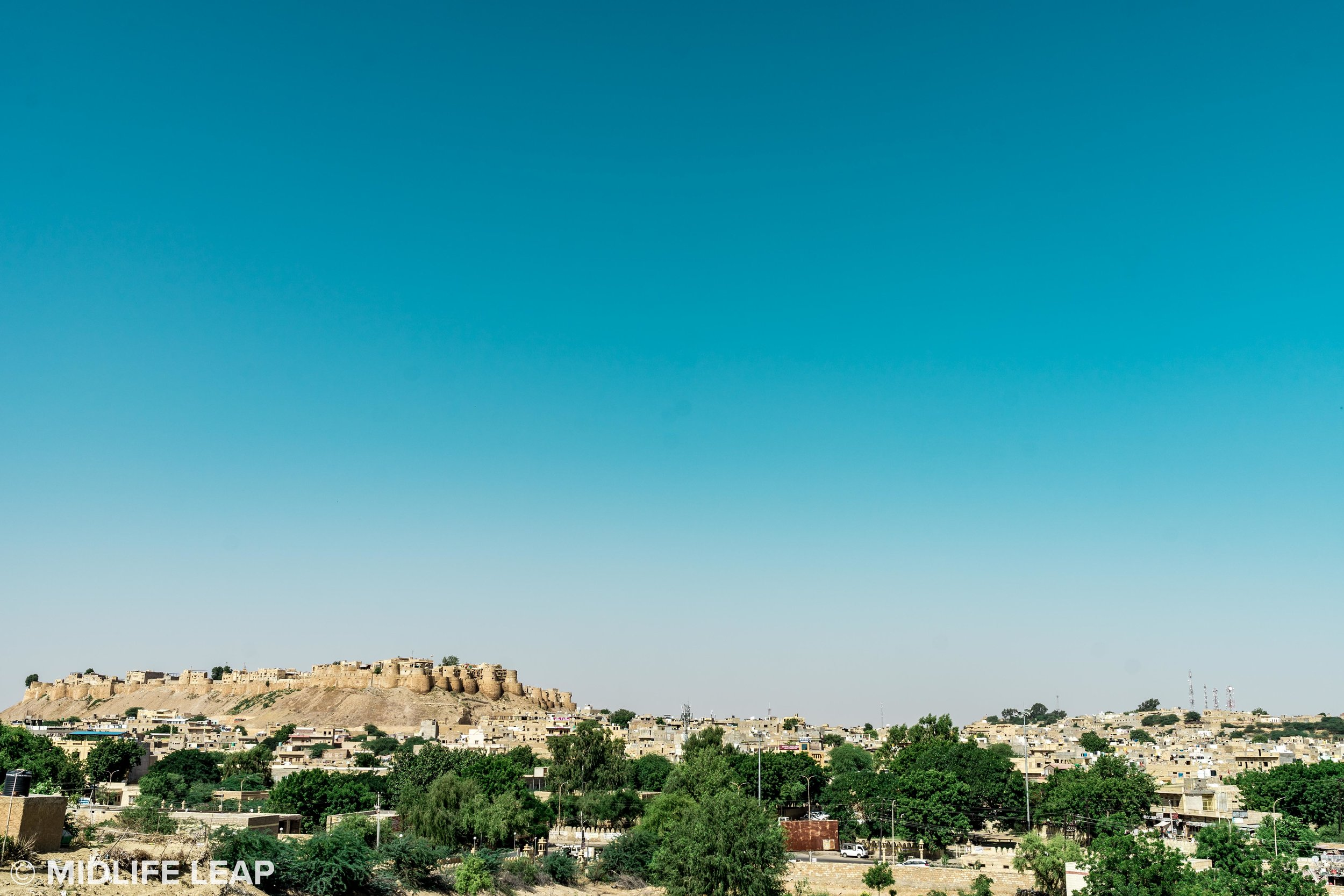 Jaisalmer Fort in the distance