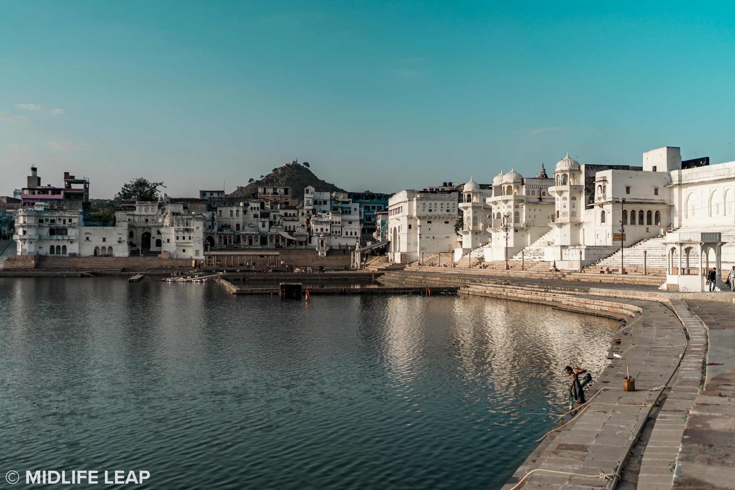 Pushkar Lake and some of the bathing ghats